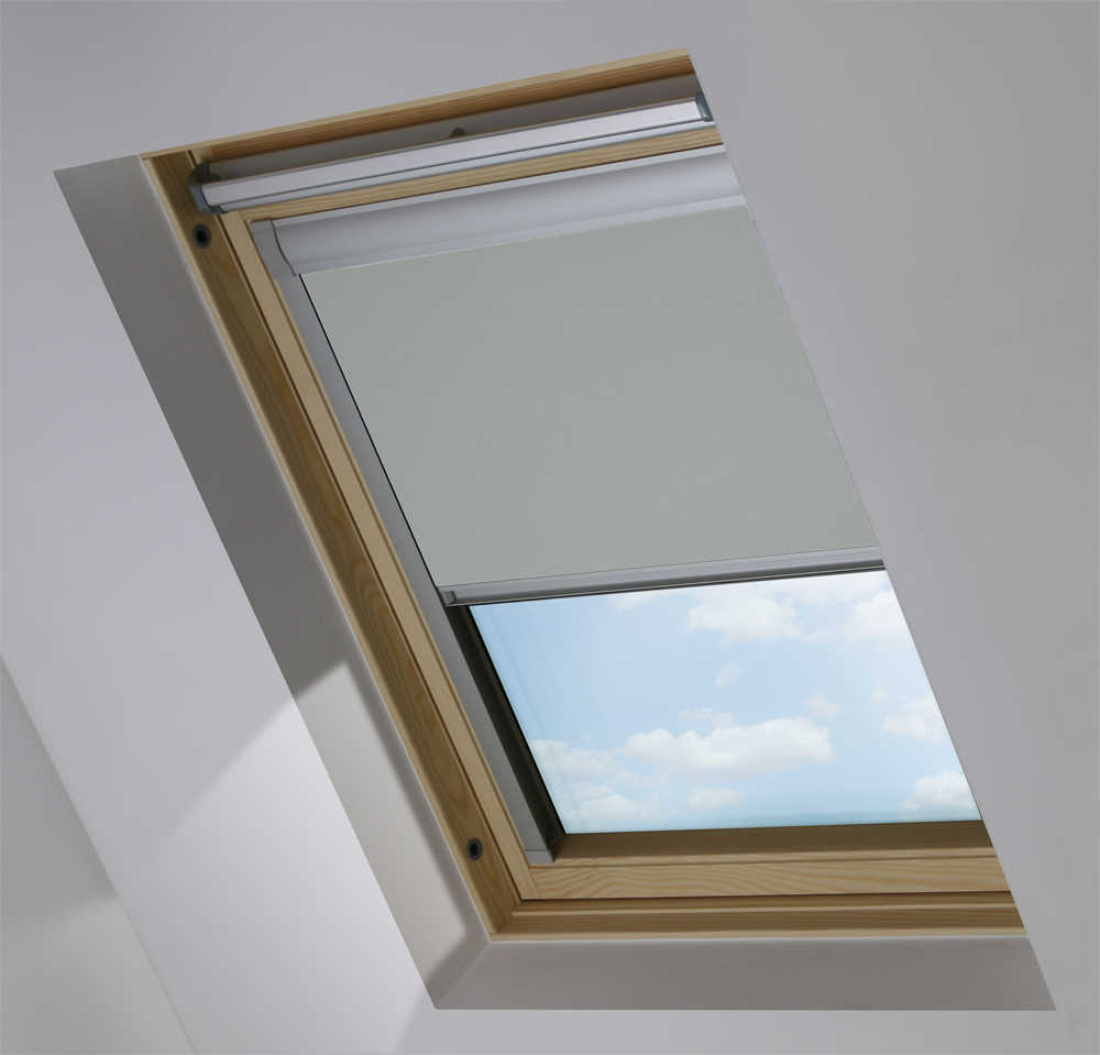Made-To-Measure Premium Skylight Blind in Flagstone Blackout