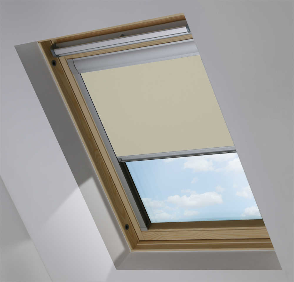 Made to Measure Skylight Plus Blind  in Barn Owl Blackout