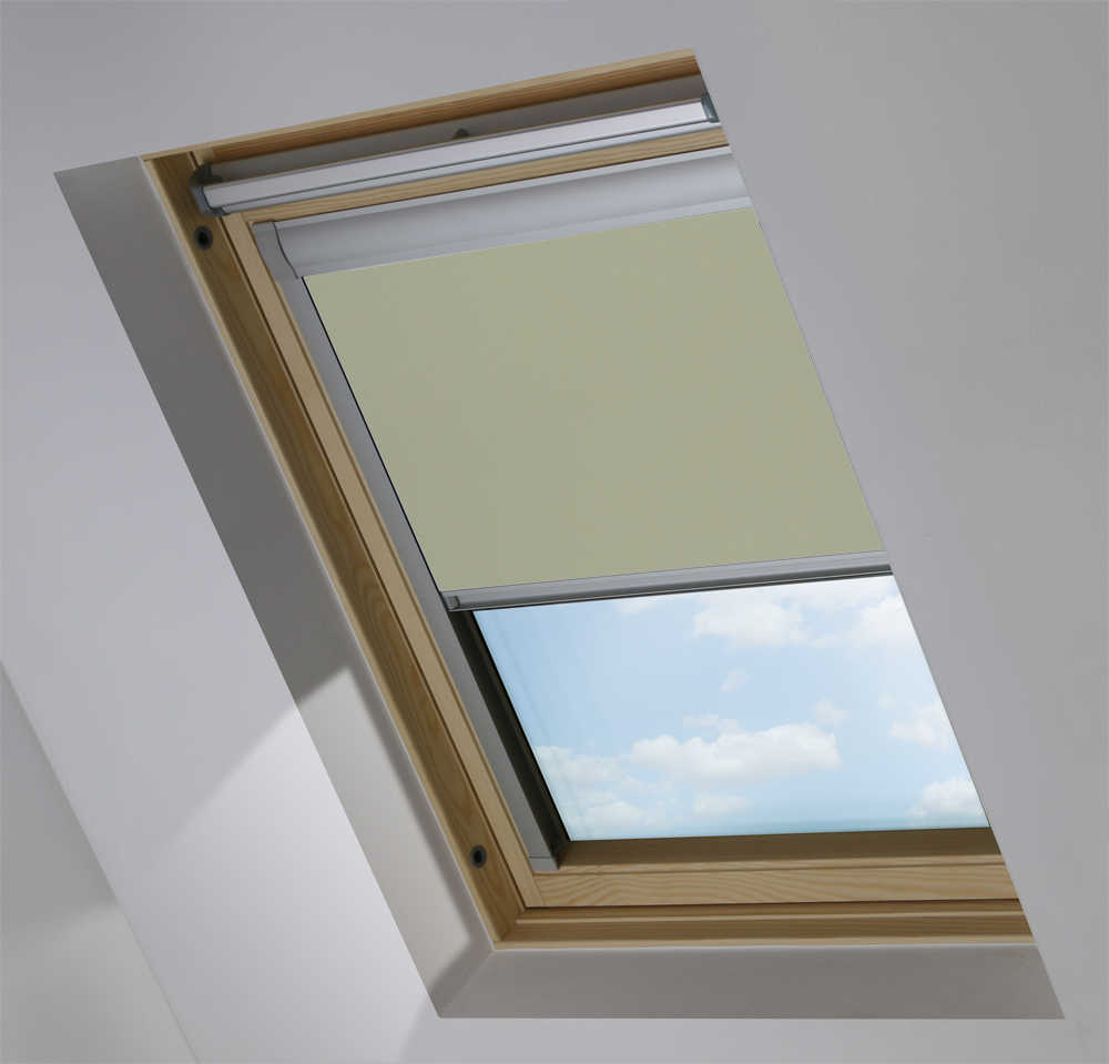 Made-To-Measure Premium Skylight Blind in Wood Pigeon Blackout