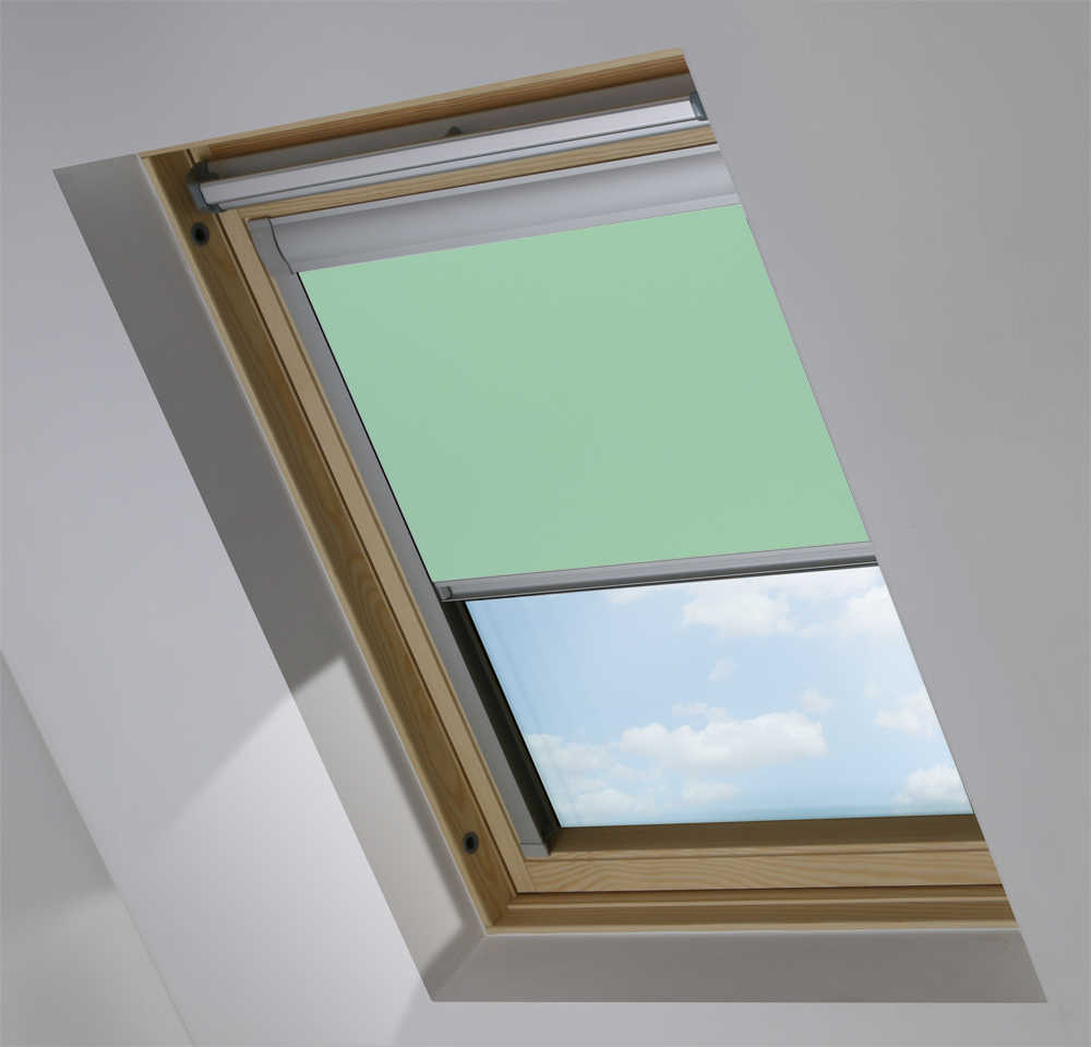 Skylight Blinds to Suit OKPOL® Windows in Duck Egg Blackout
