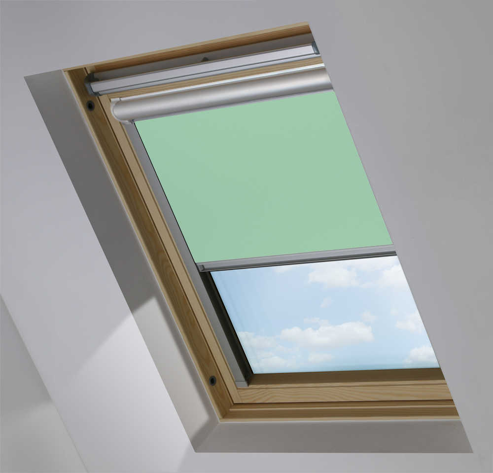 Solar Skylight Blinds to Suit FAKRO® Windows in Duck Egg Blackout