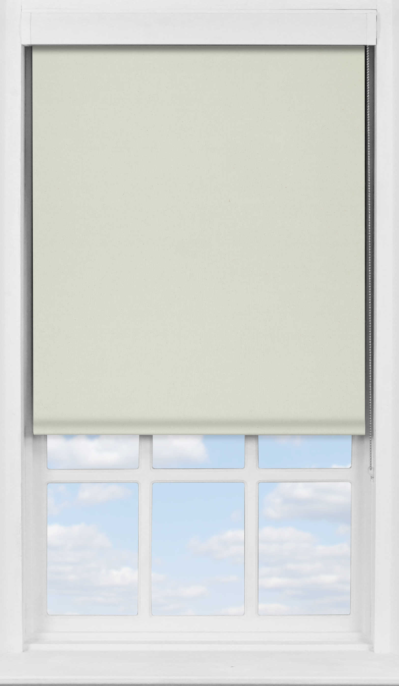 Premium Roller Blind in Natural Cream Transparent