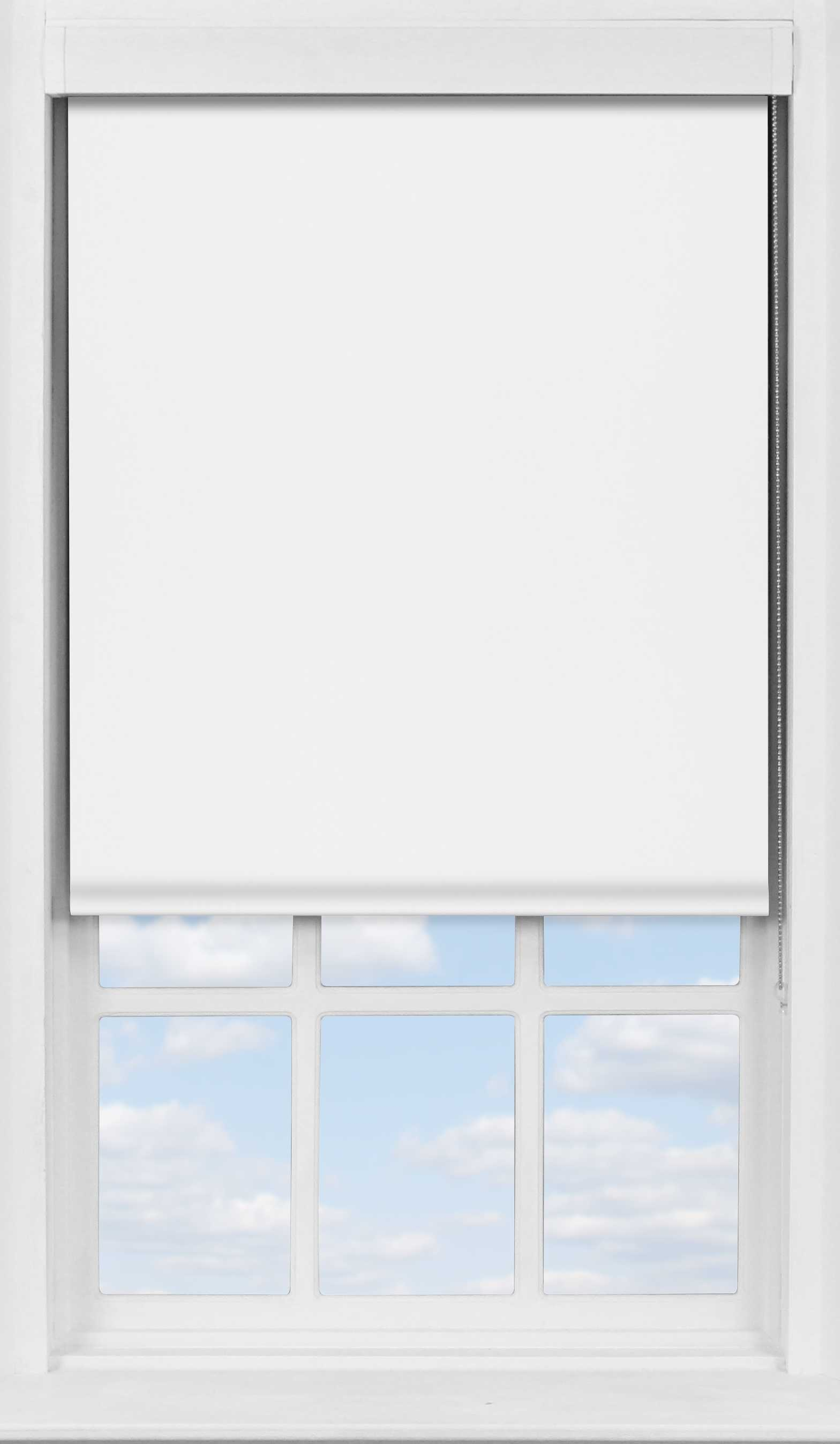 Premium Roller Blind in Dove White Translucent