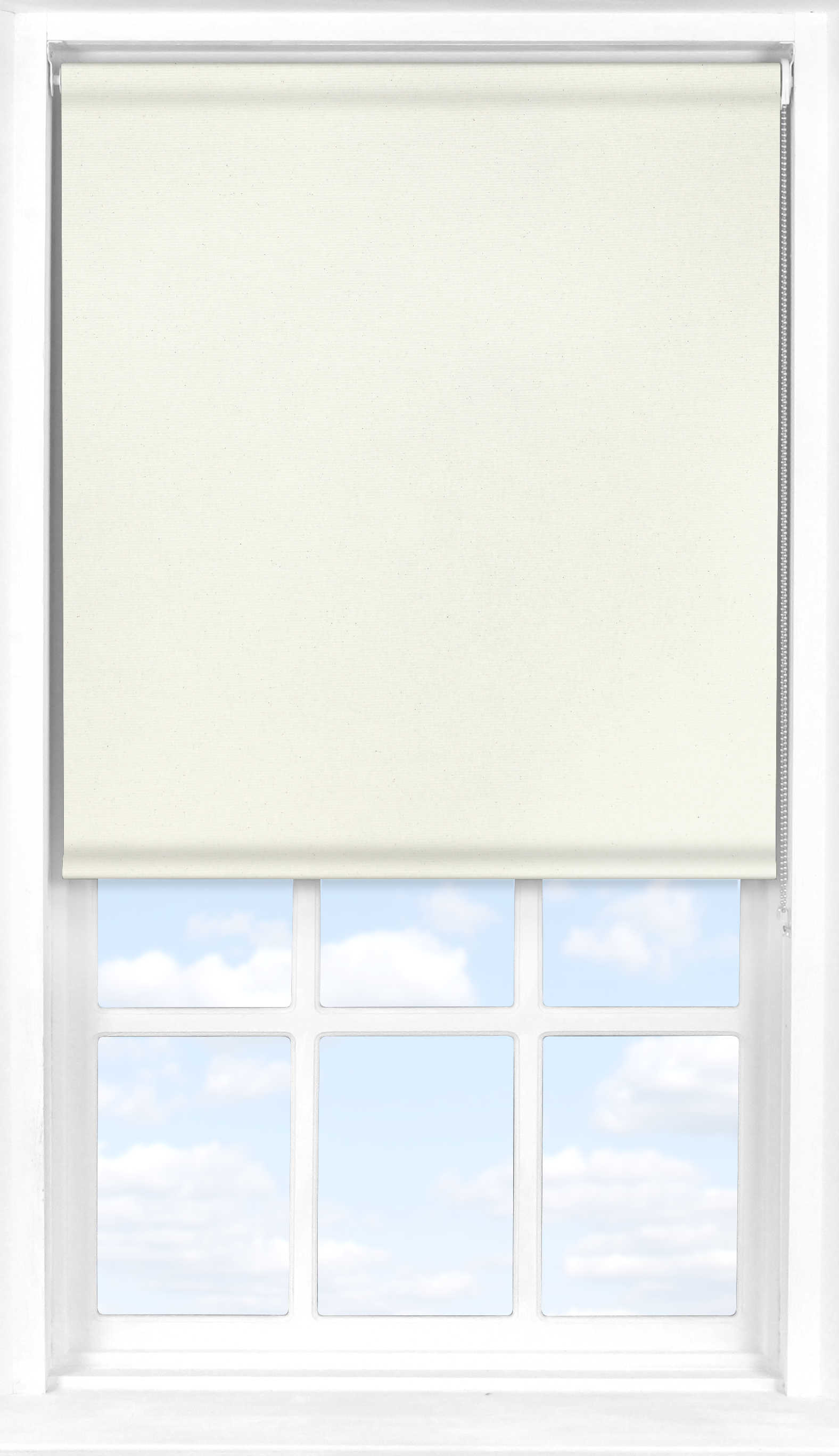 Roller Blind in Biscuit Cream Translucent