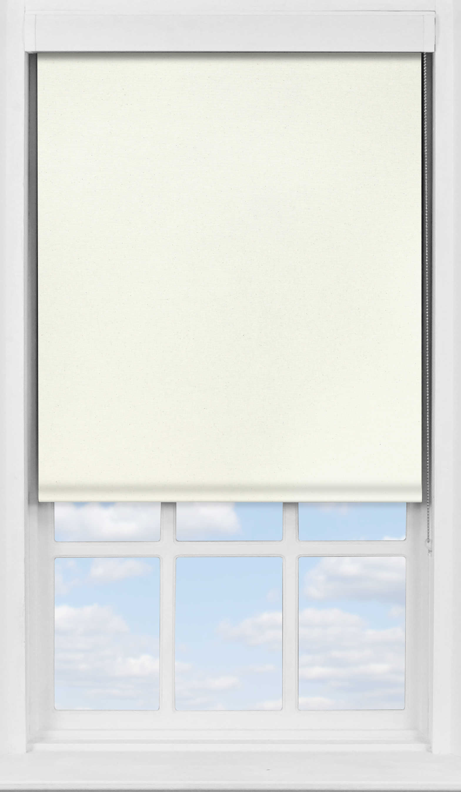 Premium Roller Blind in Biscuit Cream Translucent
