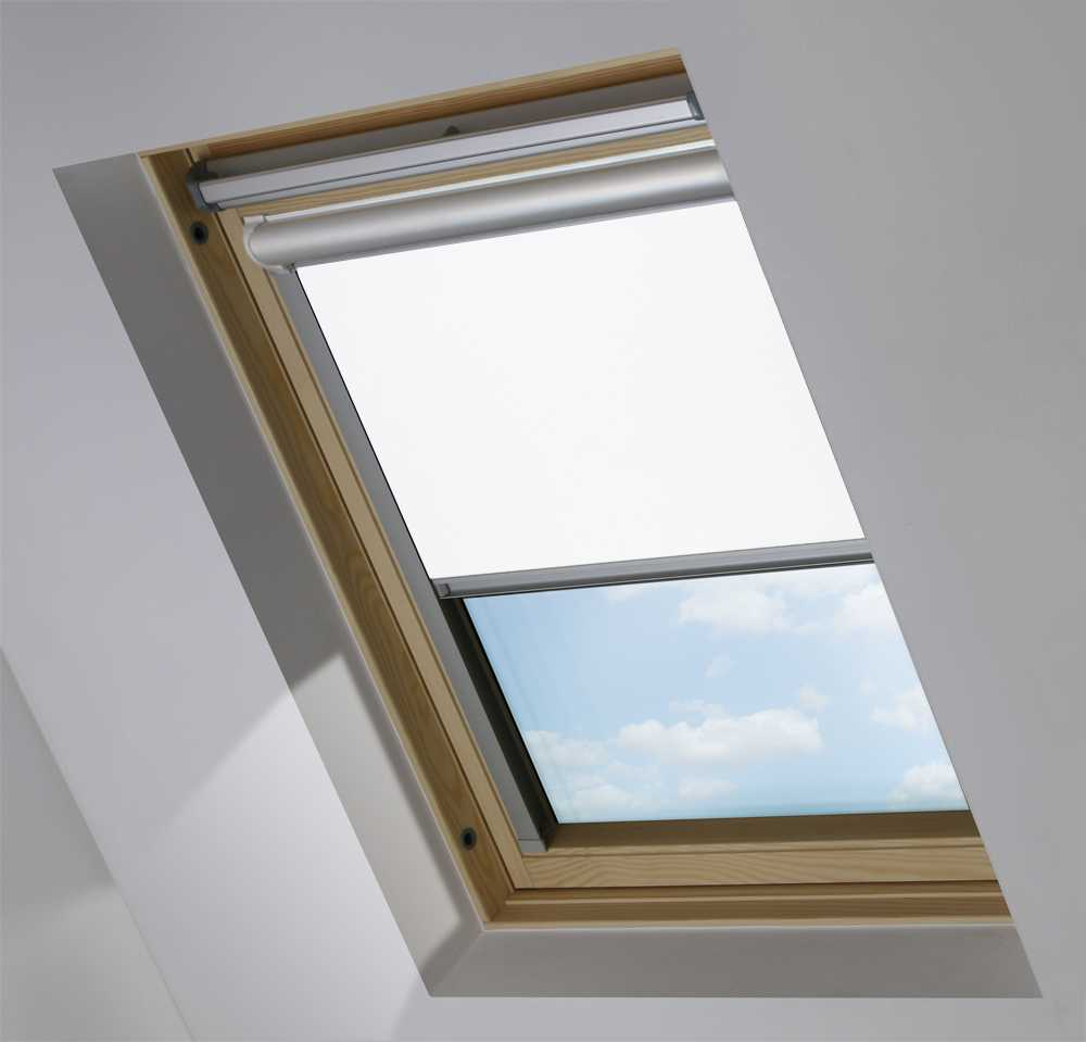 Solar Skylight Blinds to Suit FAKRO® Windows in Polar White Translucent