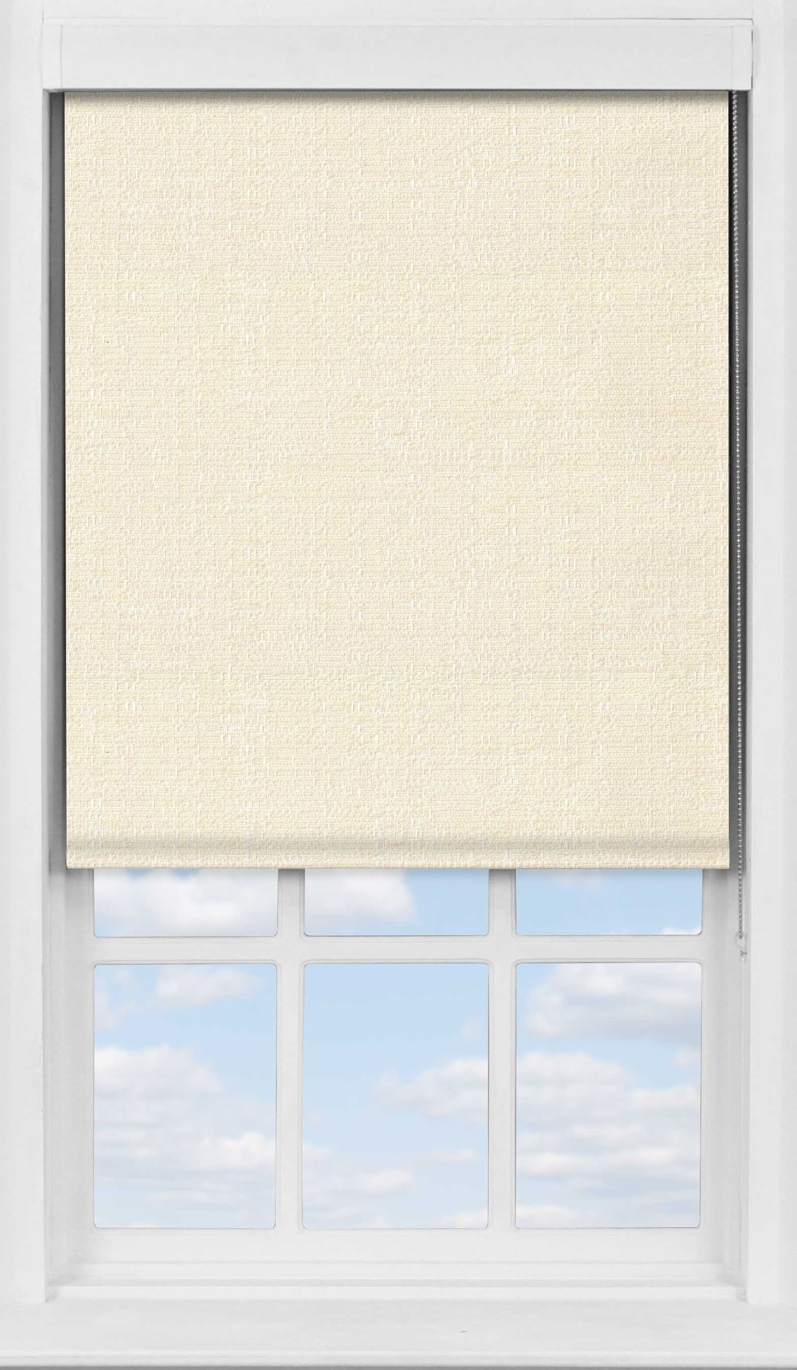 Premium Roller Blind in Flecked Cream Blackout