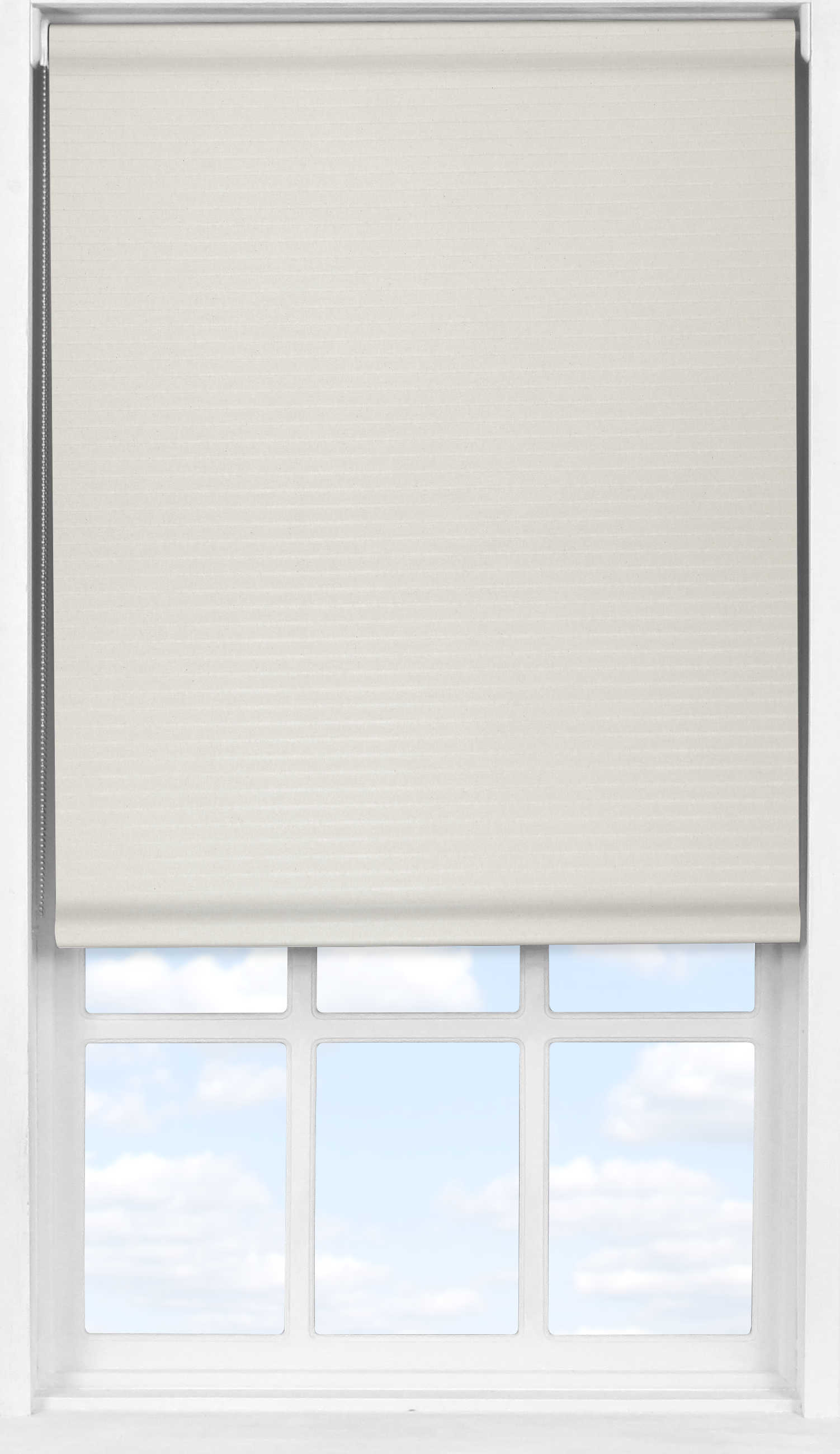 Easifit Roller Blind in Wide Stripe Cream Transparent