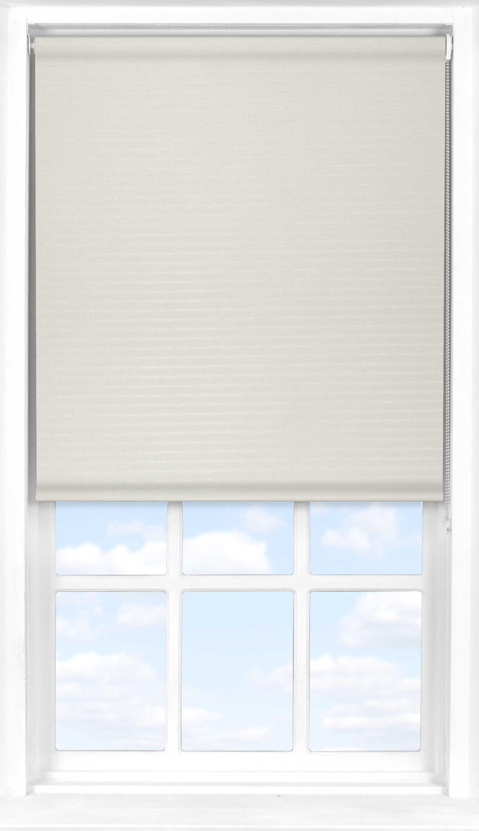 Roller Blind in Wide Stripe Cream Transparent