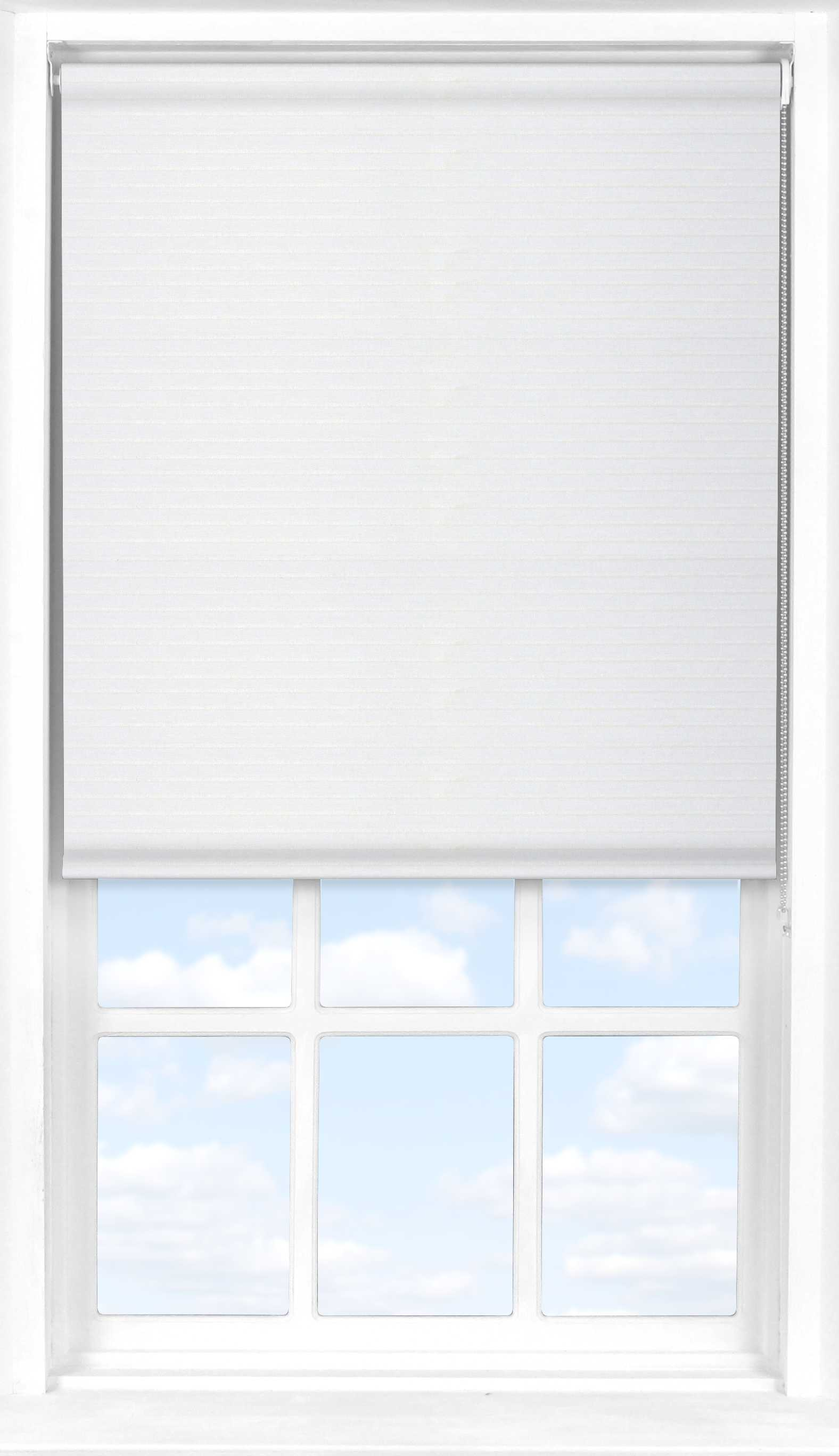 Roller Blind in Seafoam White Translucent and Transparent Mix