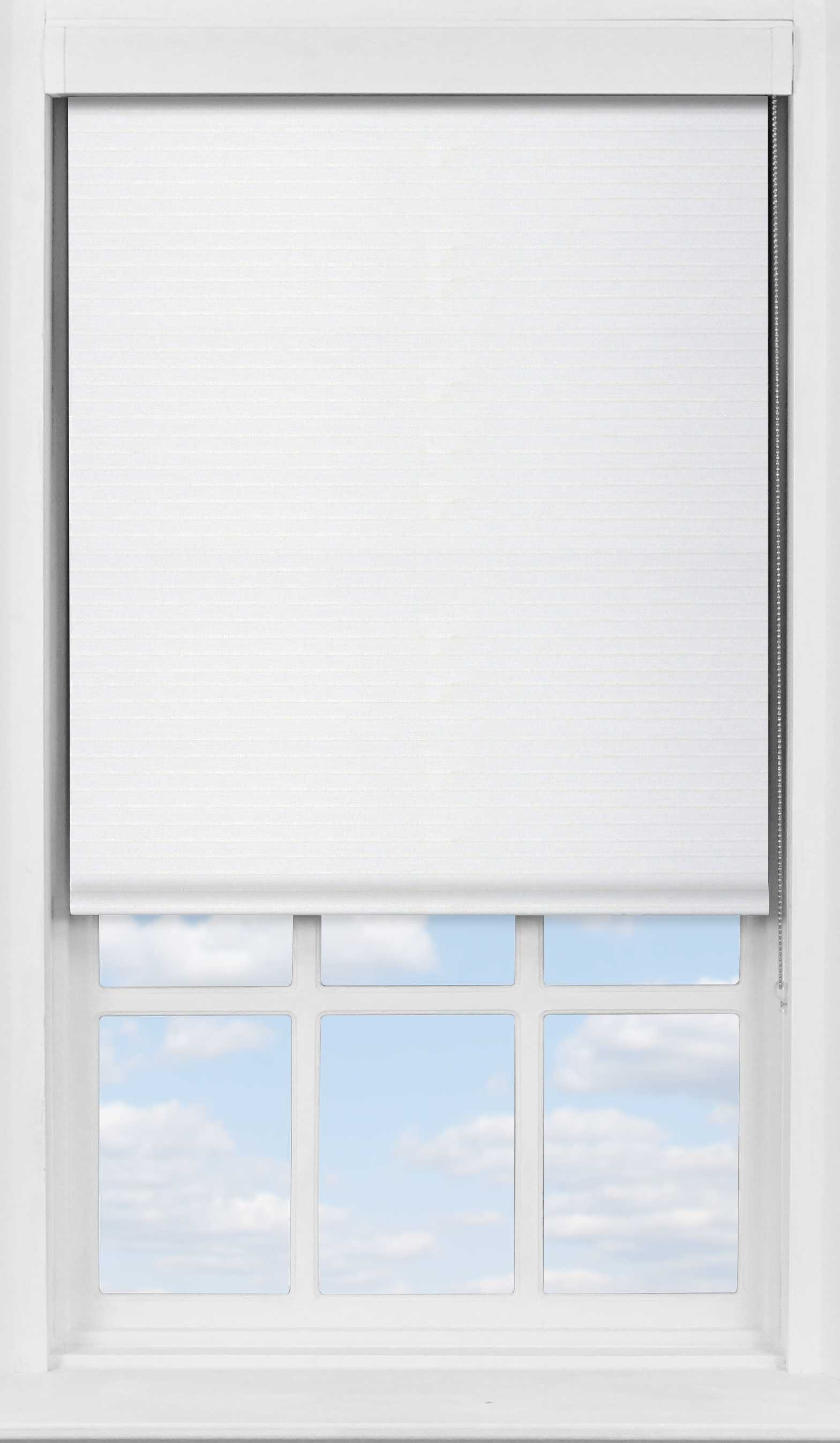 Premium Roller Blind in Seafoam White Translucent and Transparent Mix