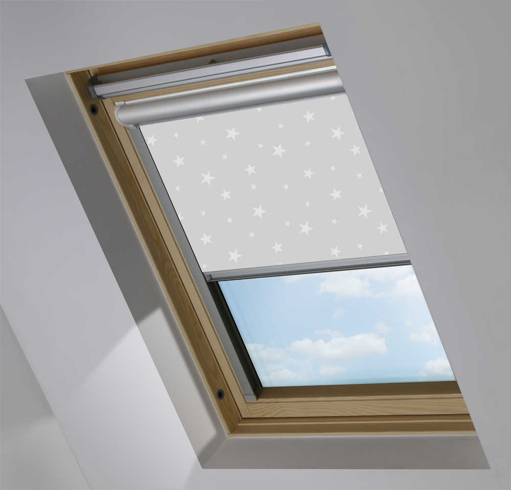 Solar Skylight Blinds to Suit FAKRO® Windows in Night Night Glow Blackout