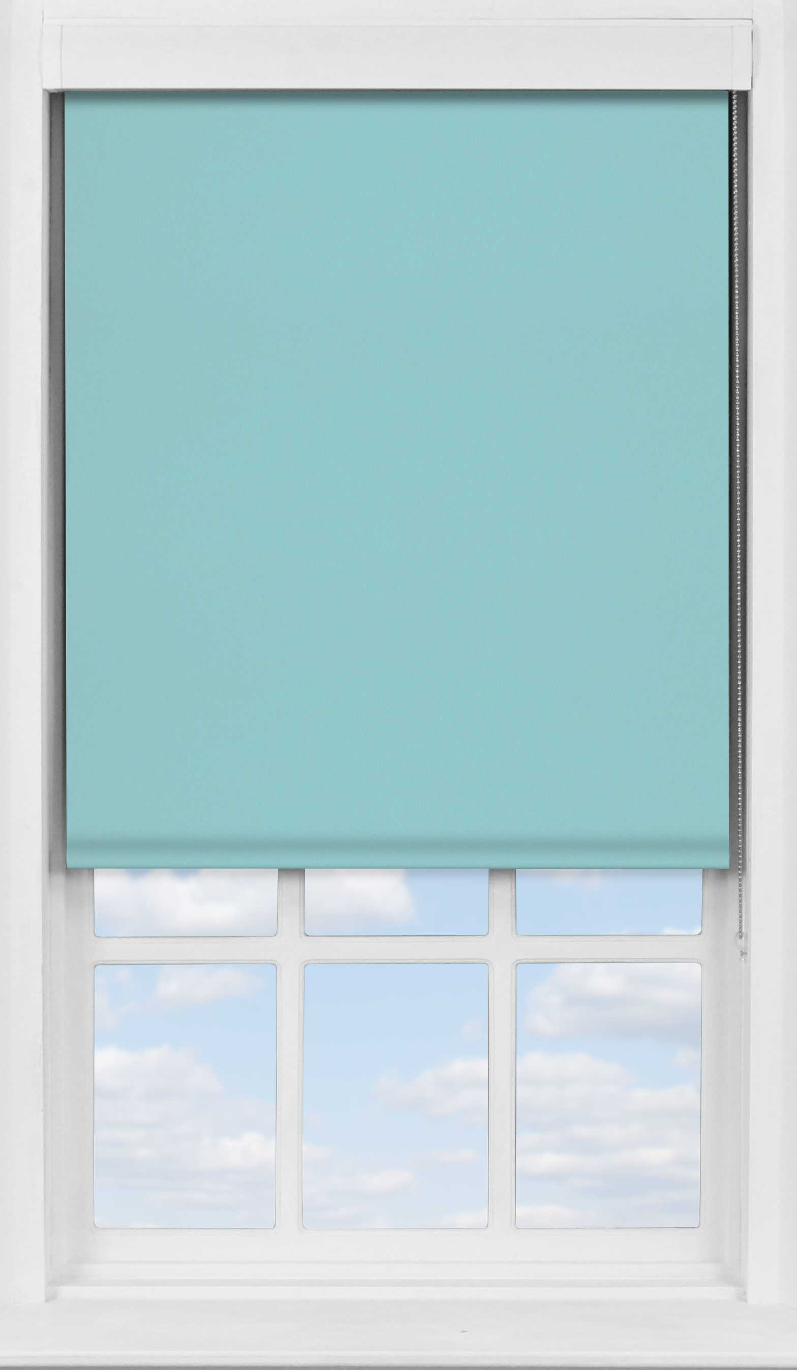 Premium Roller Blind in Coastal Blue Blackout
