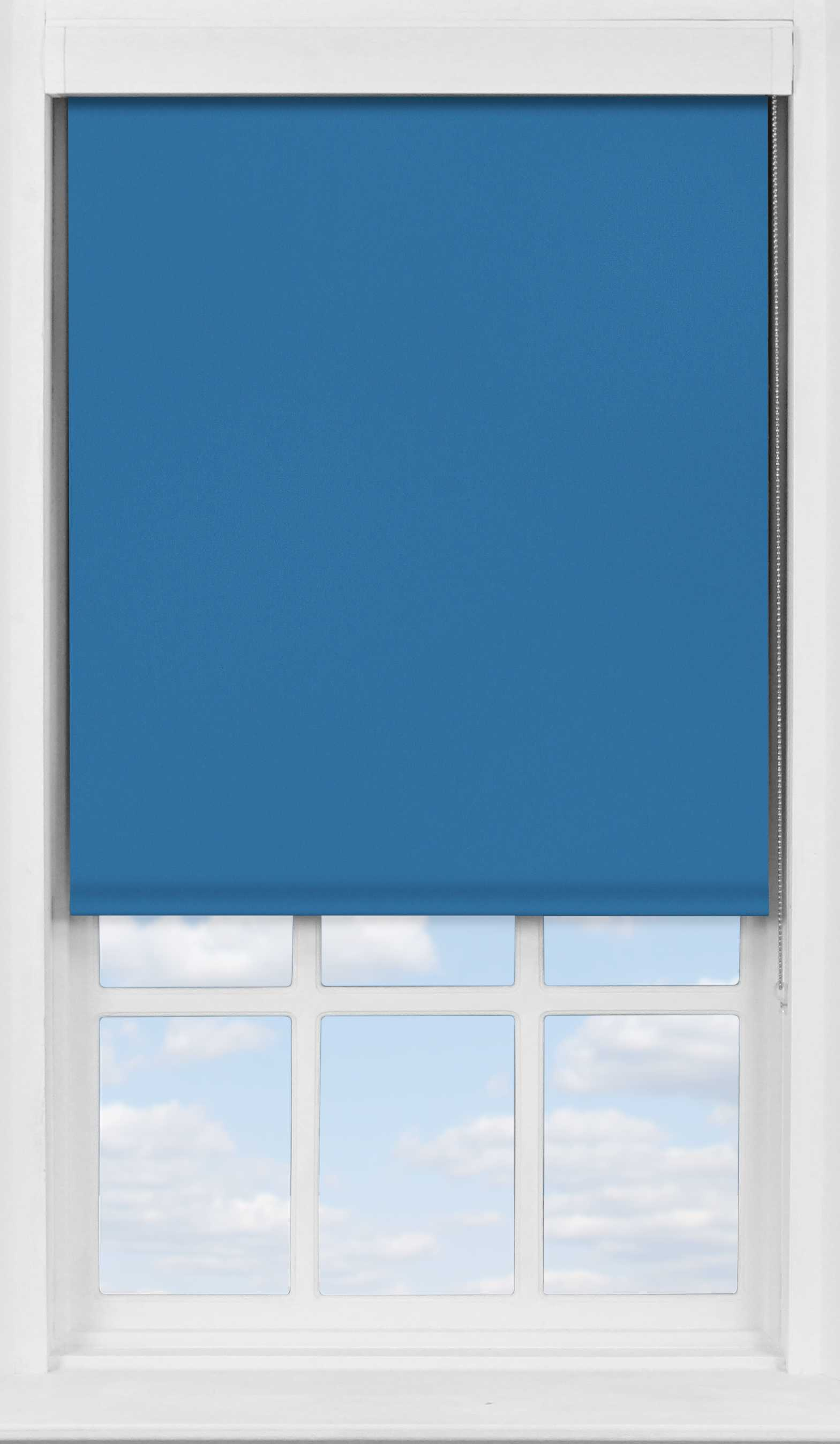 Premium Roller Blind in Cobalt Blackout