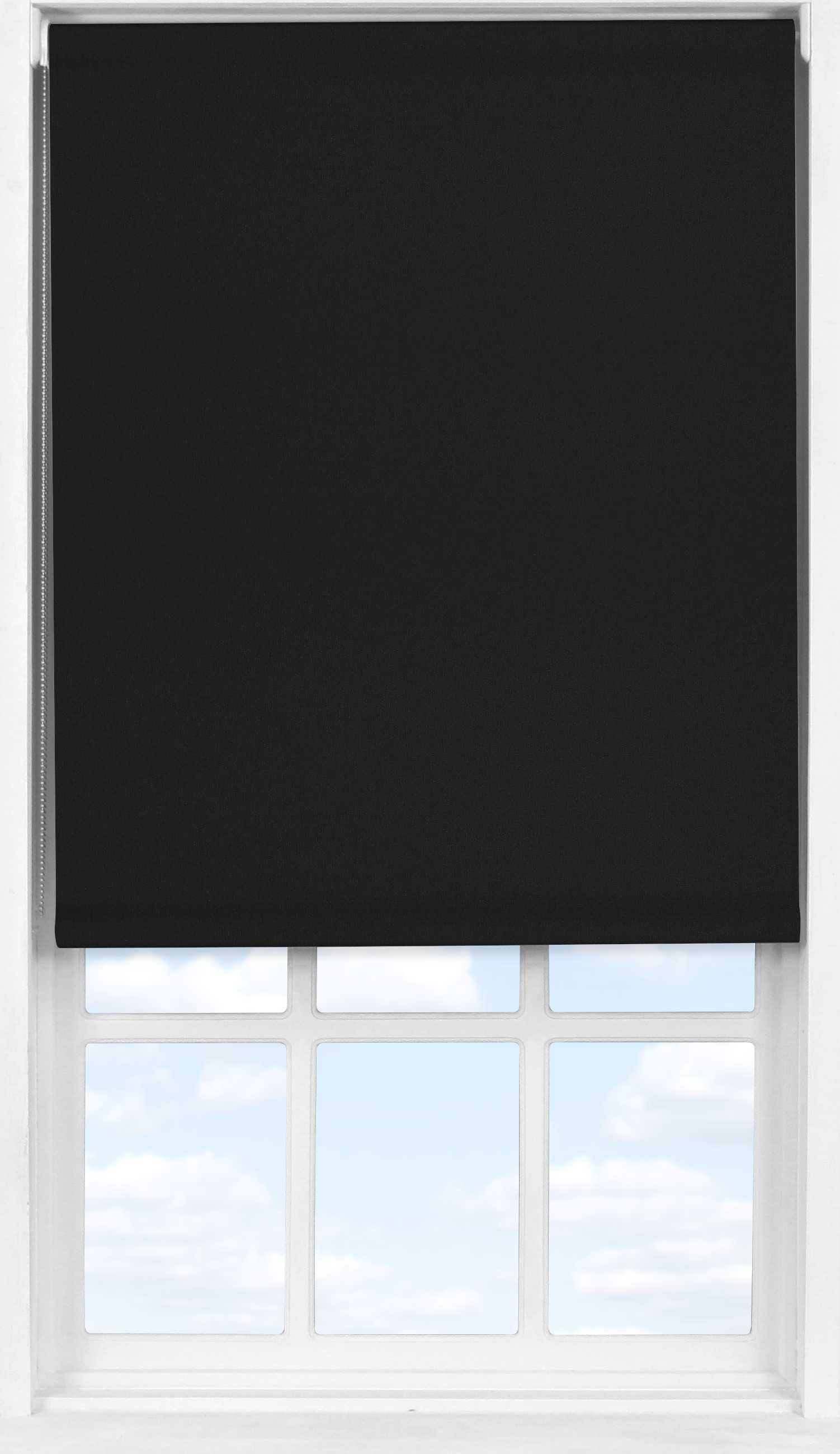 Easifit Roller Blind in Jet Black Blackout
