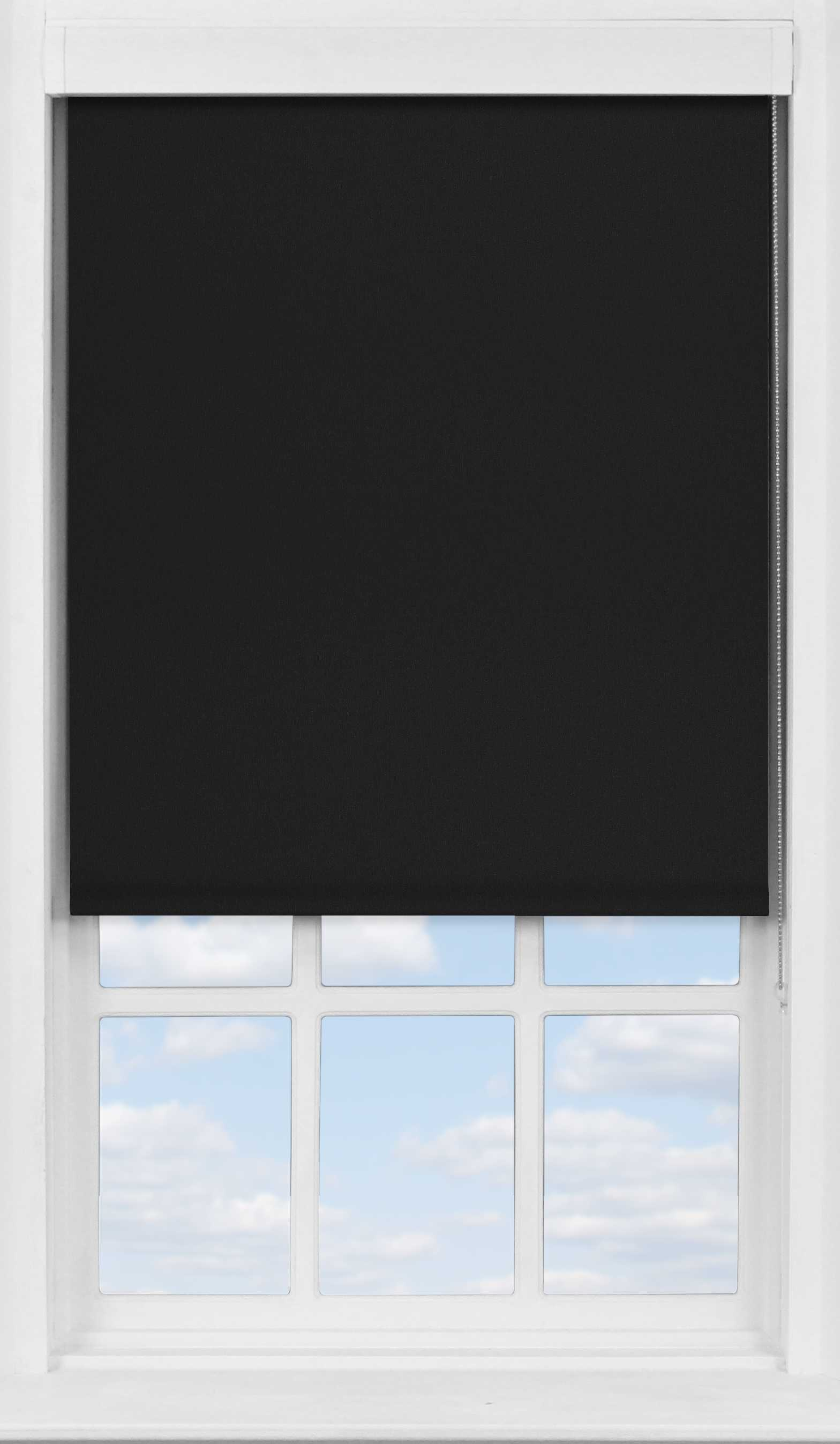 Premium Roller Blind in Jet Black Blackout