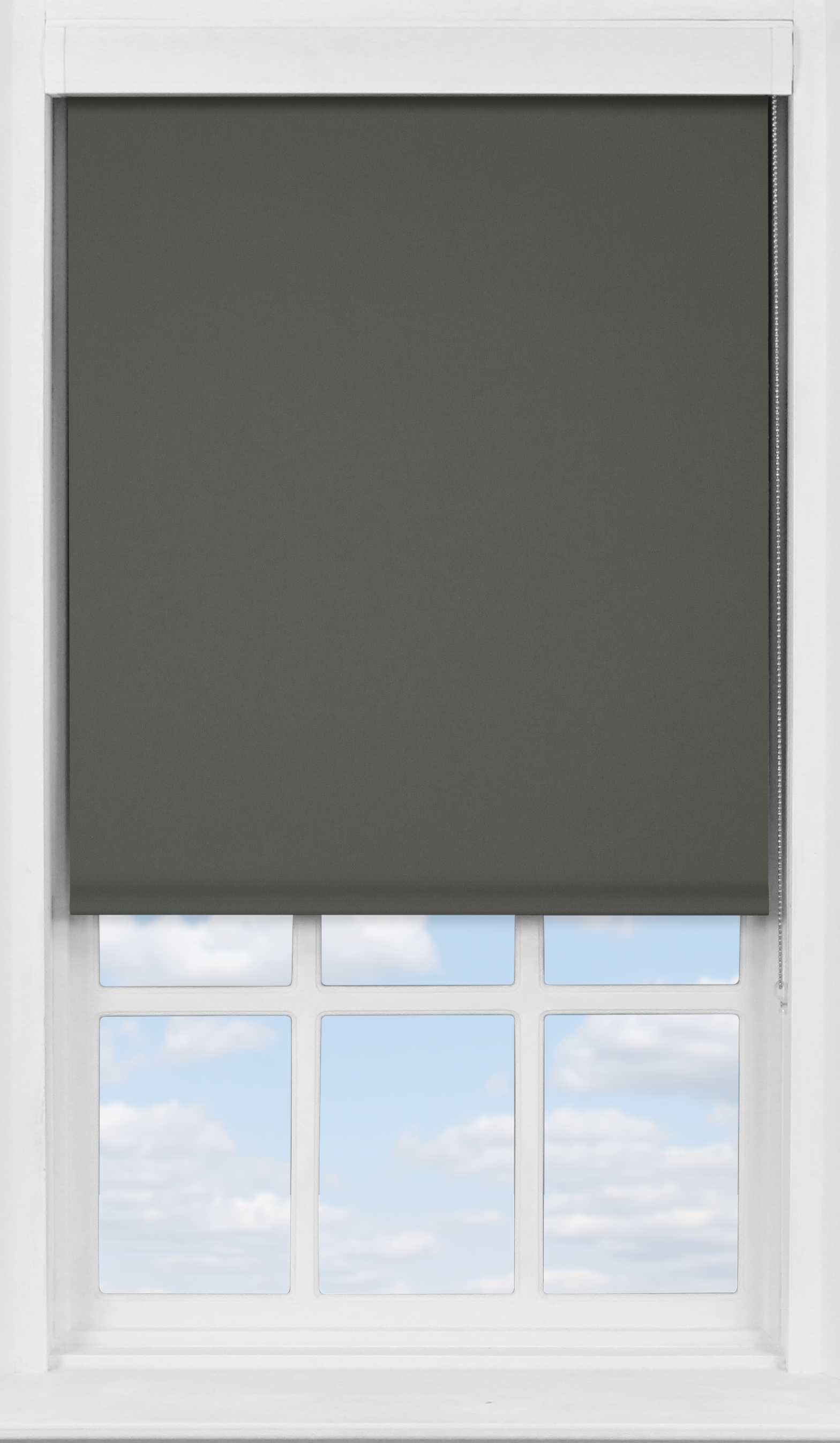 Premium Roller Blind in Pewter Blackout