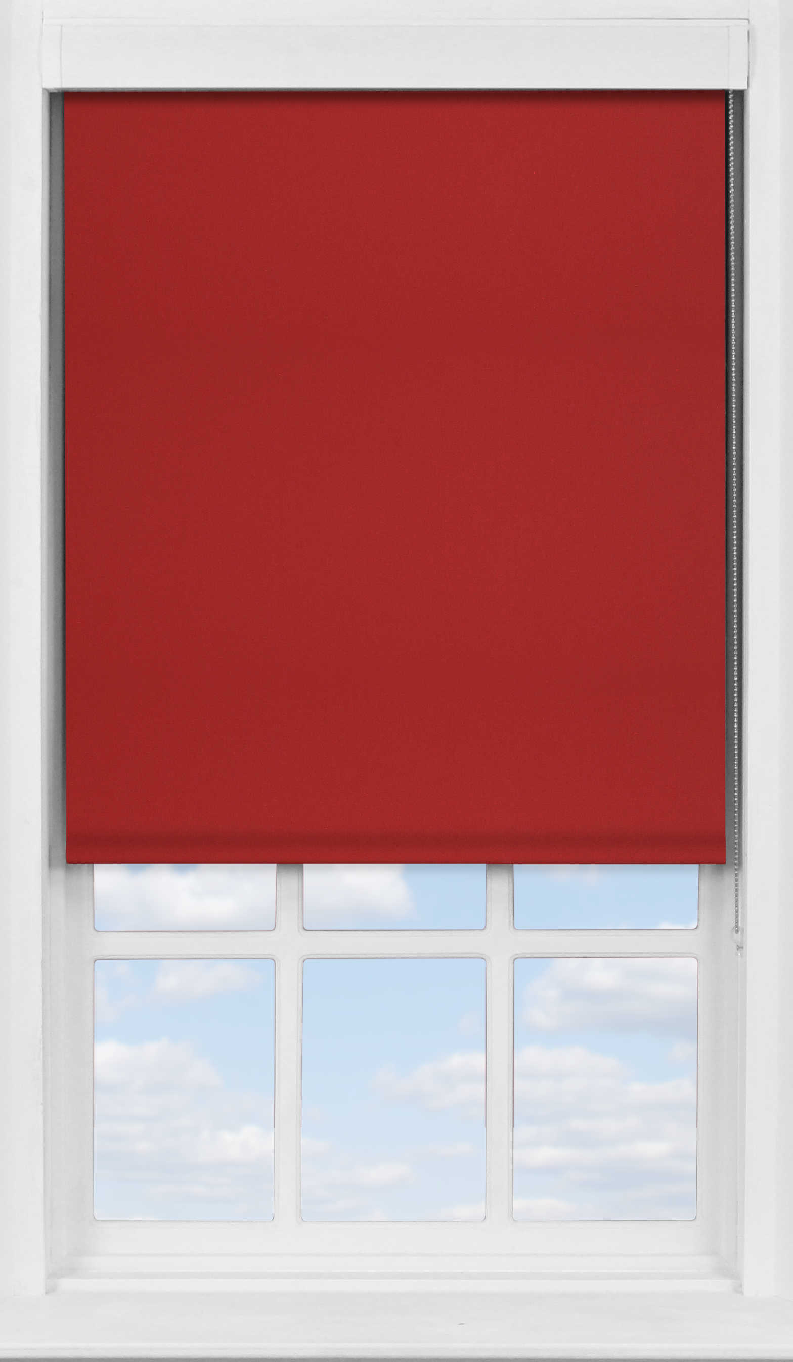 Premium Roller Blind in Redcurrant Blackout
