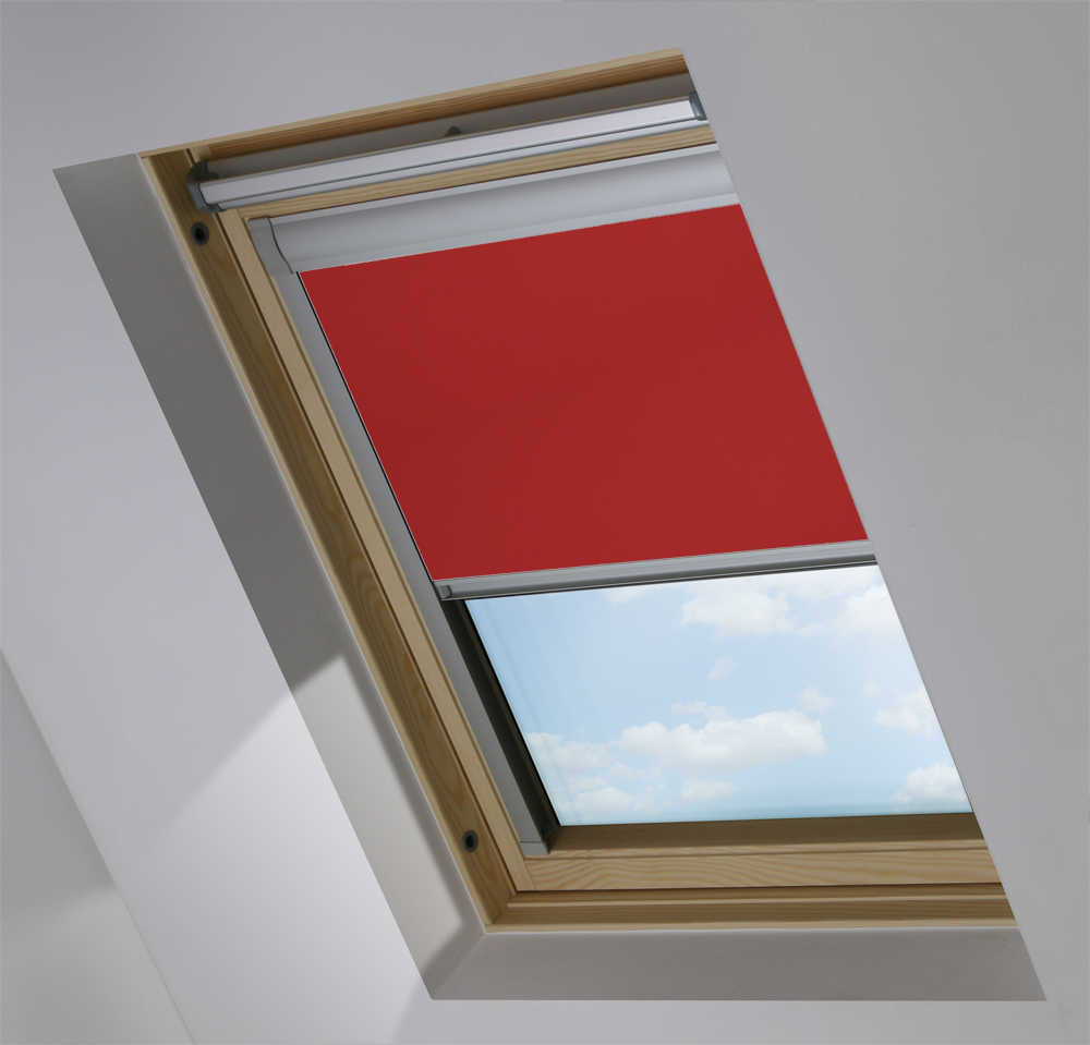 Made-To-Measure Premium Skylight Blind in Redcurrant Blackout