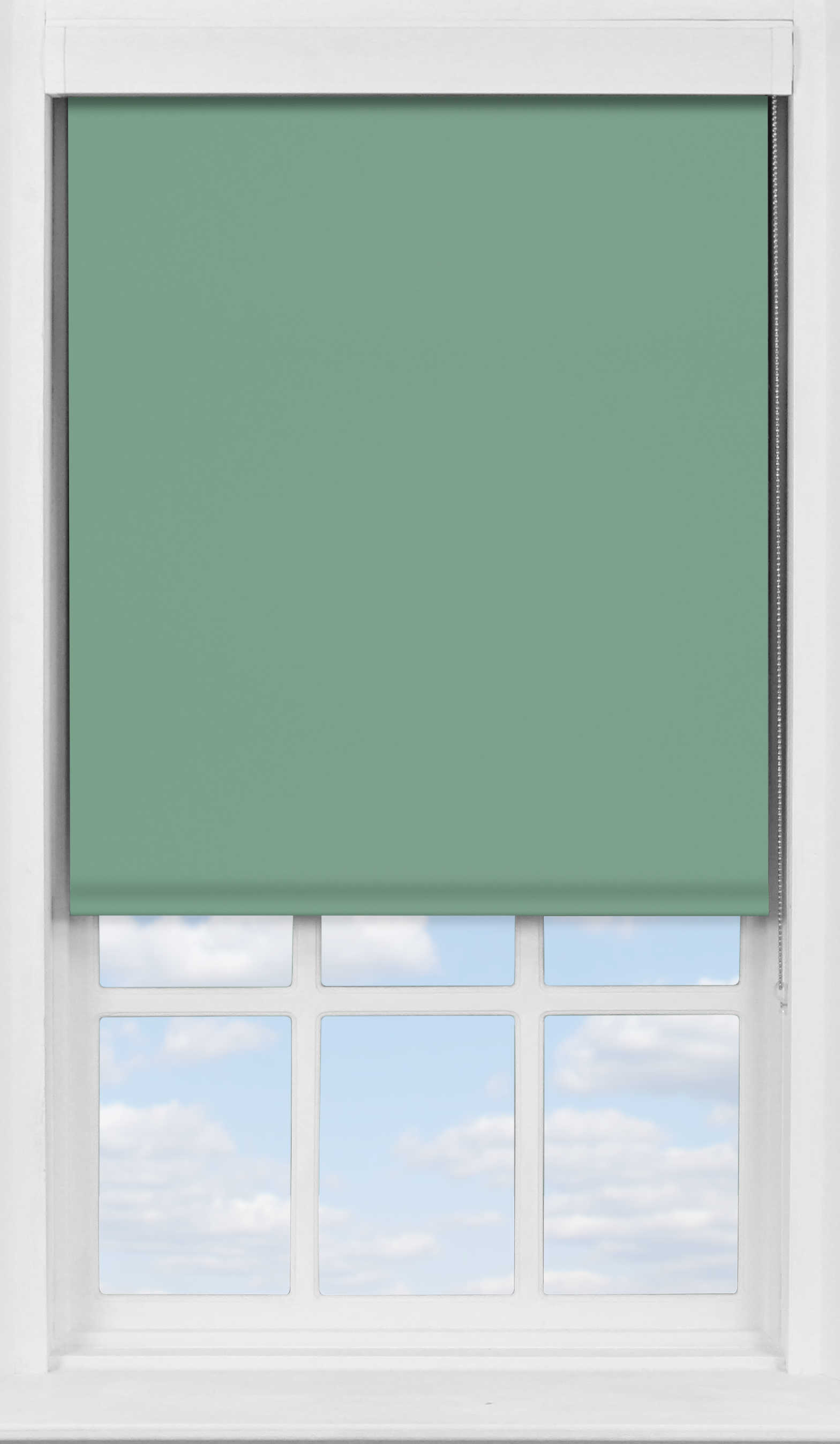 Premium Roller Blind in Crockery Teal Blackout