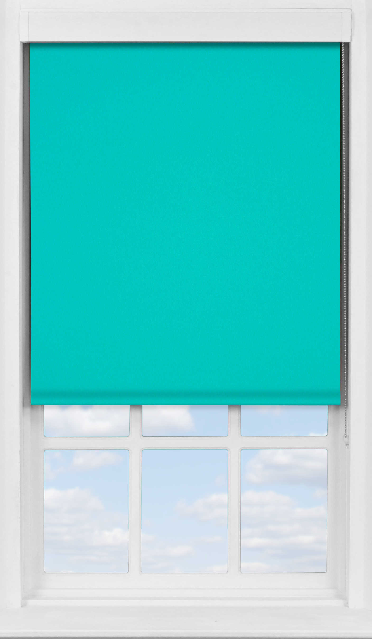 Premium Roller Blind in Kingfisher Blue Blackout