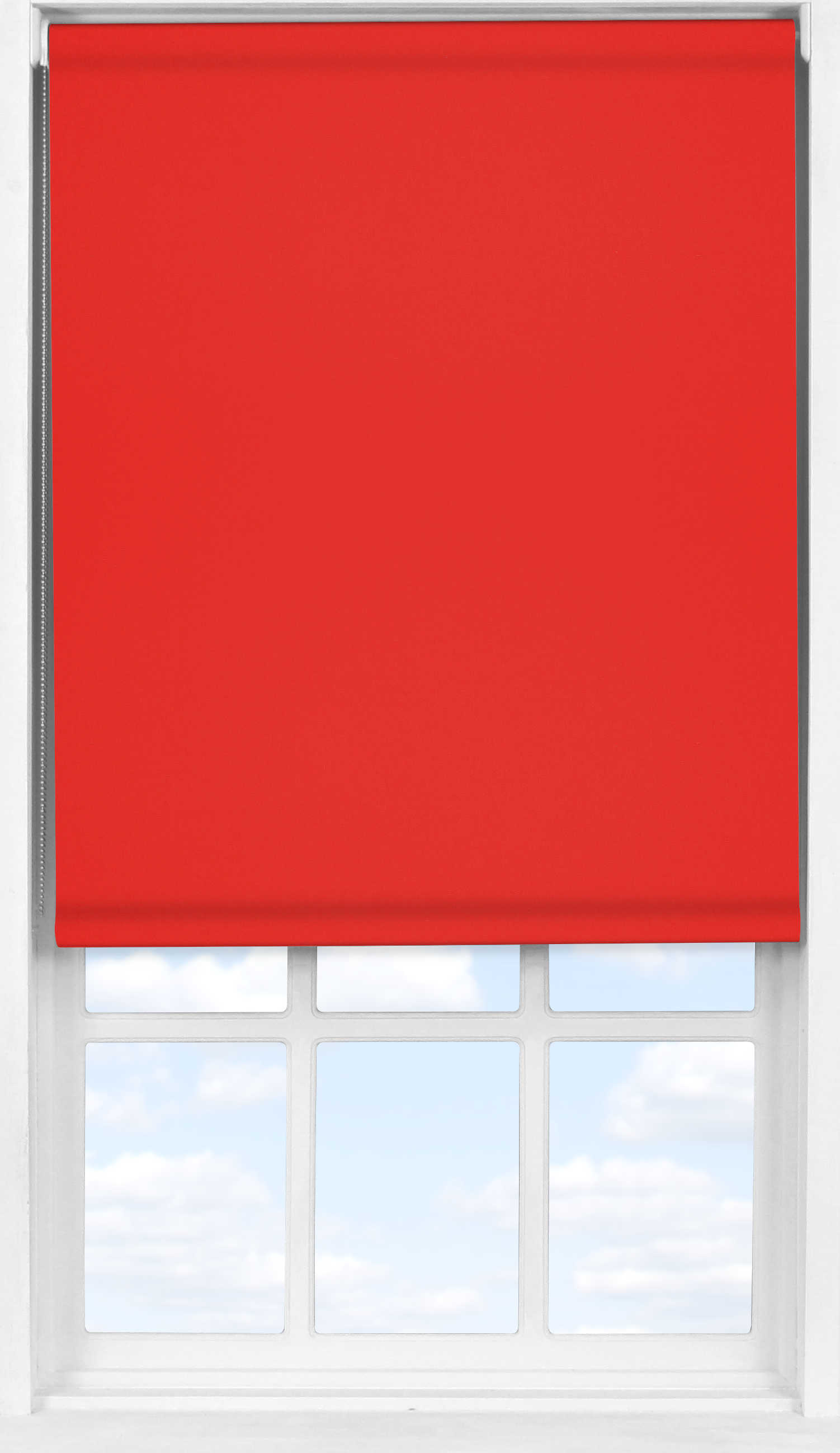Easifit Roller Blind in Carnival Red Blackout