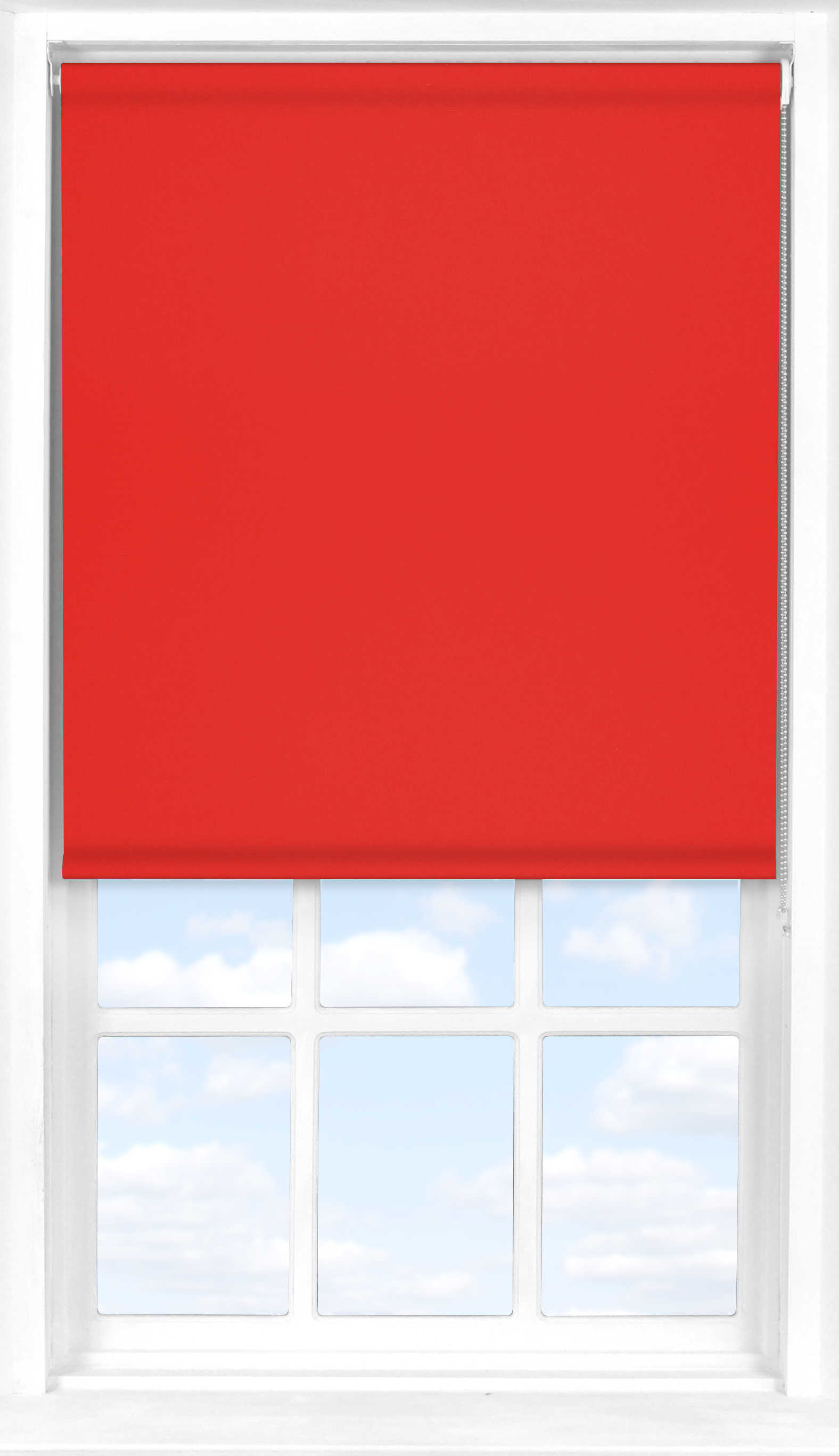 Roller Blind in Carnival Red Blackout