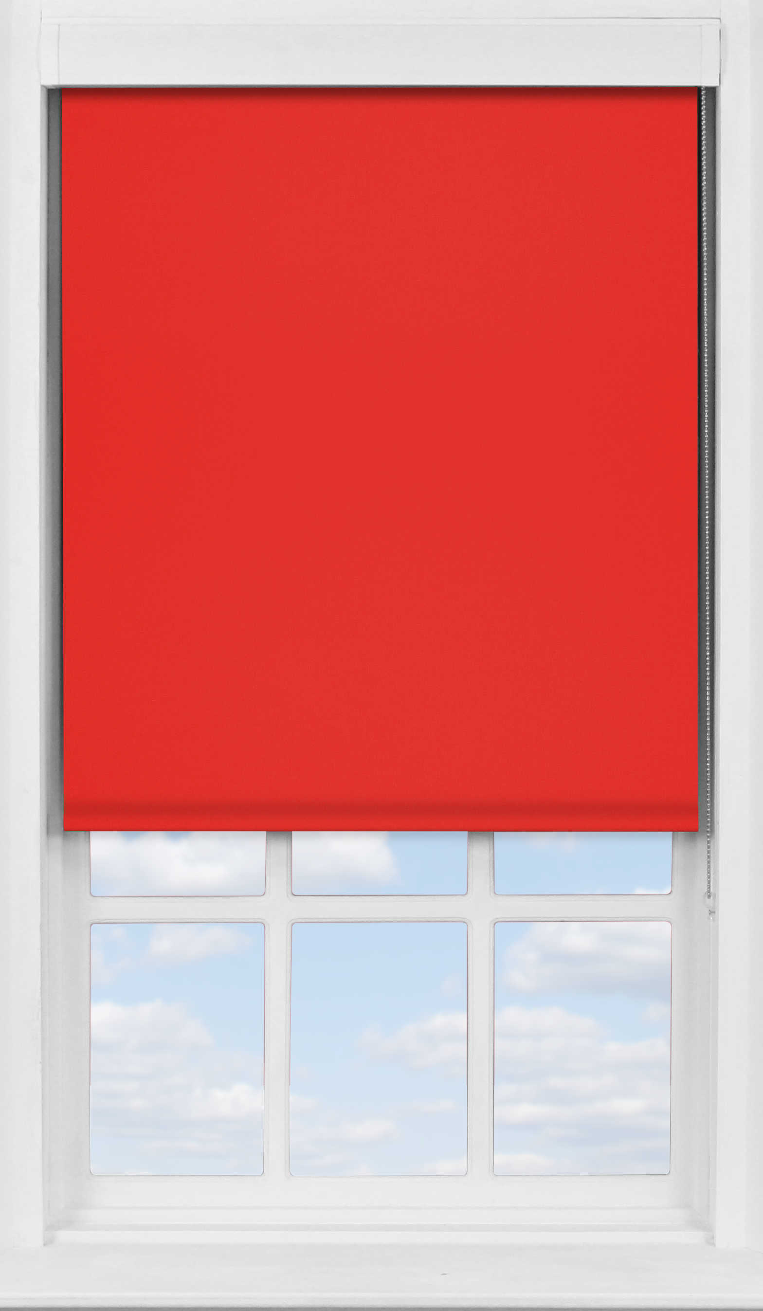 Premium Roller Blind in Carnival Red Blackout