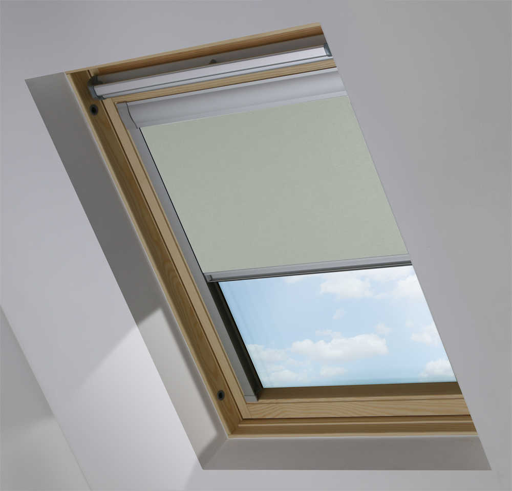 Skylight Blinds to Suit OKPOL® Windows in Moonlit Shimmer Blackout
