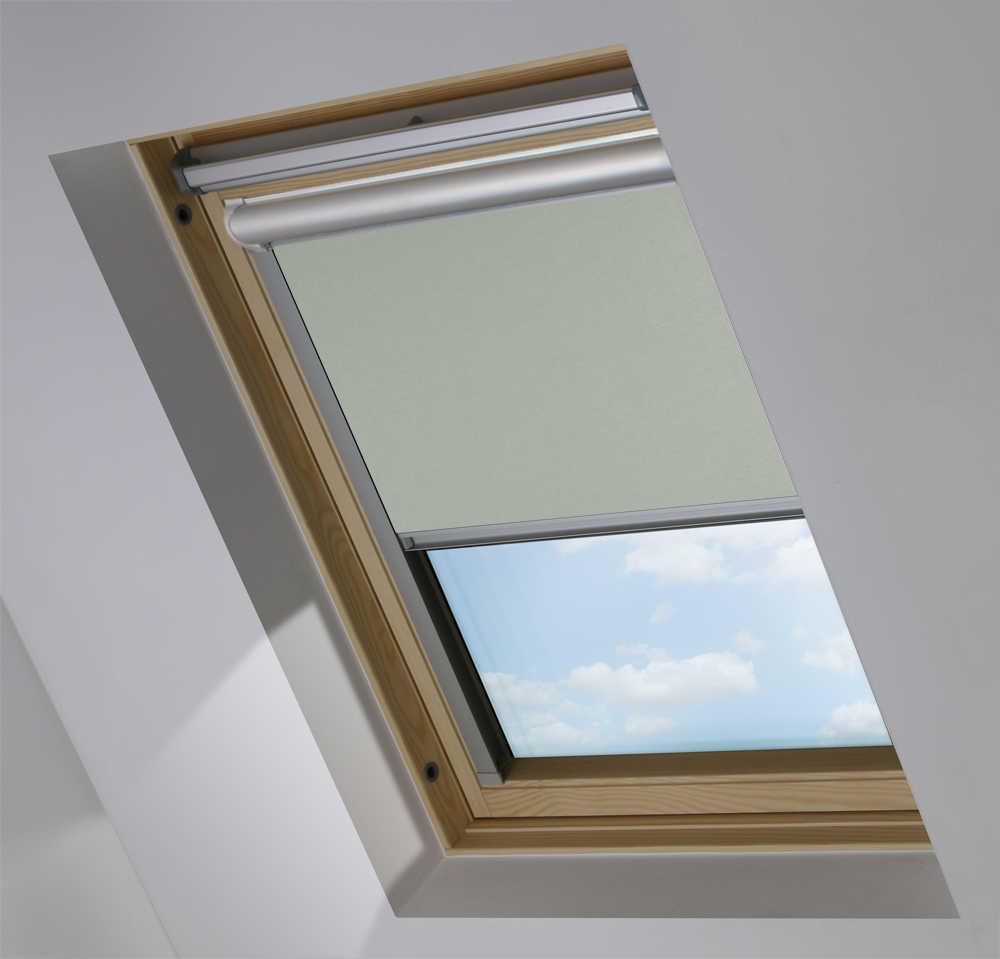 Solar Skylight Blinds to Suit FAKRO® Windows in Moonlit Shimmer Blackout