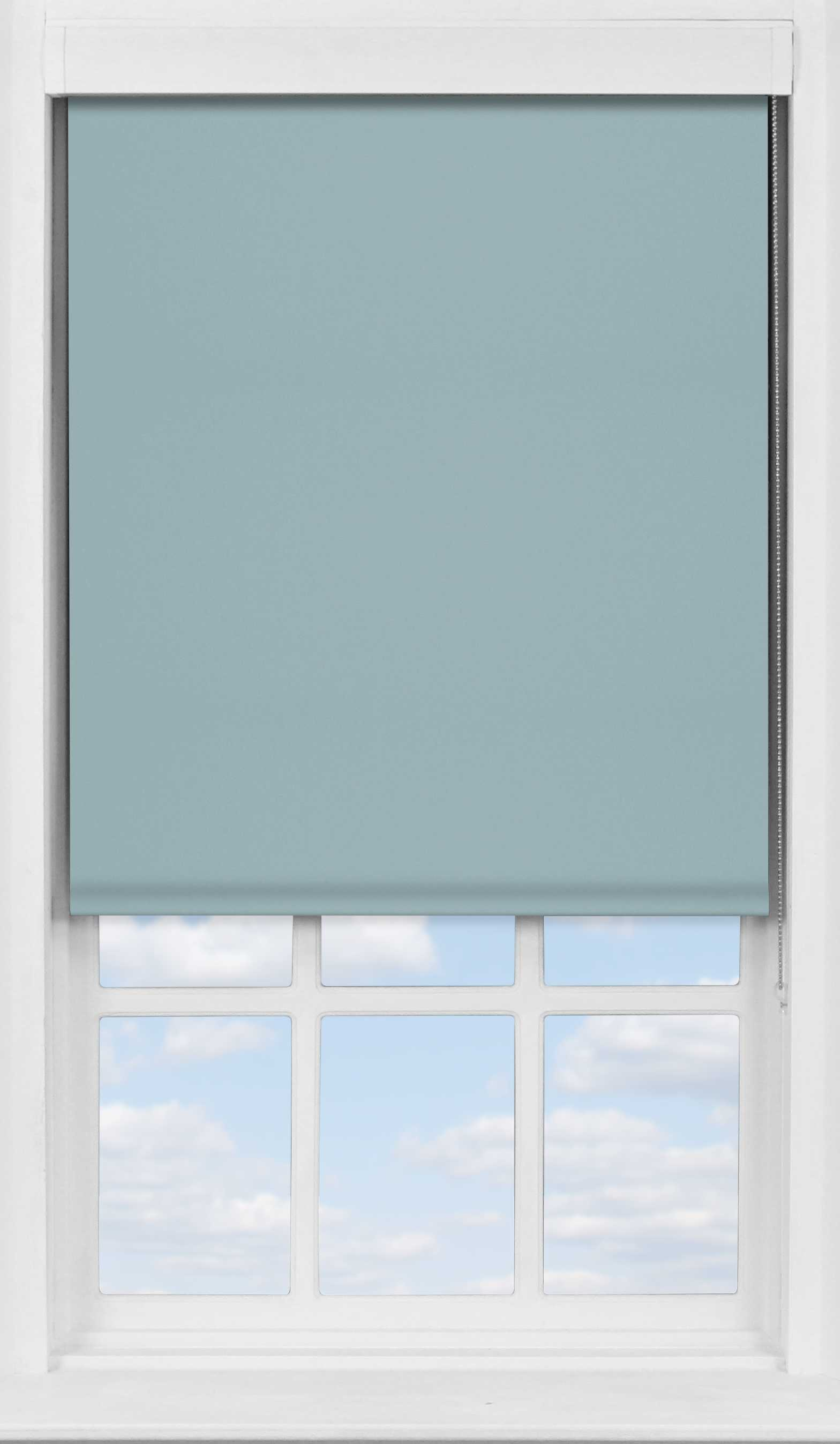Premium Roller Blind in Blue Pebble Blackout
