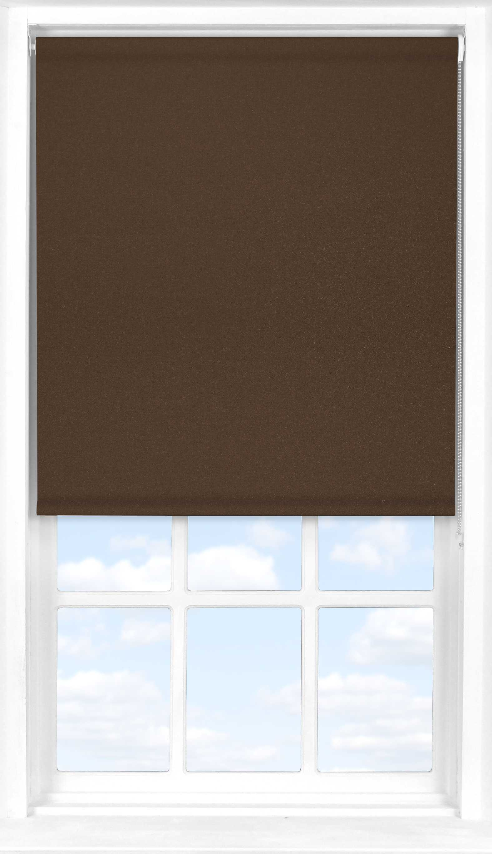 Roller Blind in Cocoa Bean Blackout