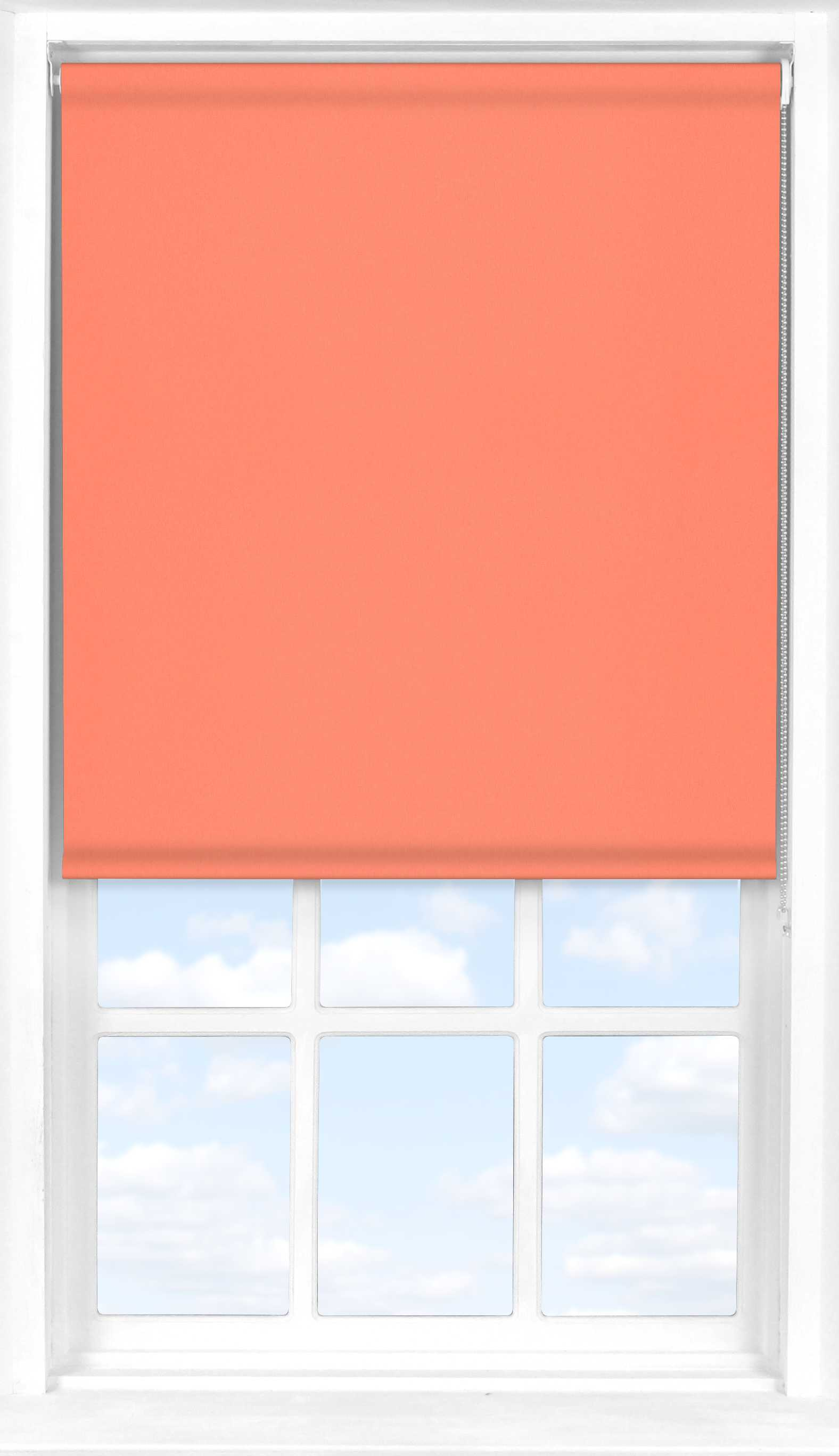Roller Blind in Coral Sunset Translucent