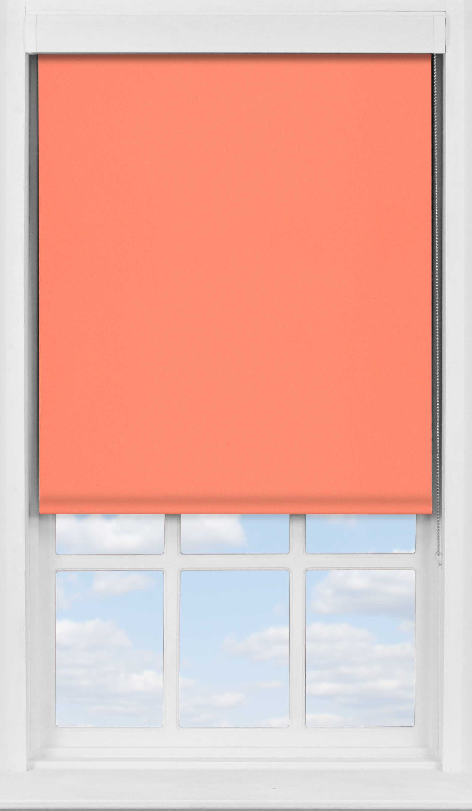 Premium Roller Blind in Coral Sunset Translucent