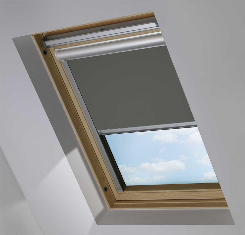 Solar Skylight Blinds to Suit FAKRO® Windows in Gravel Blackout