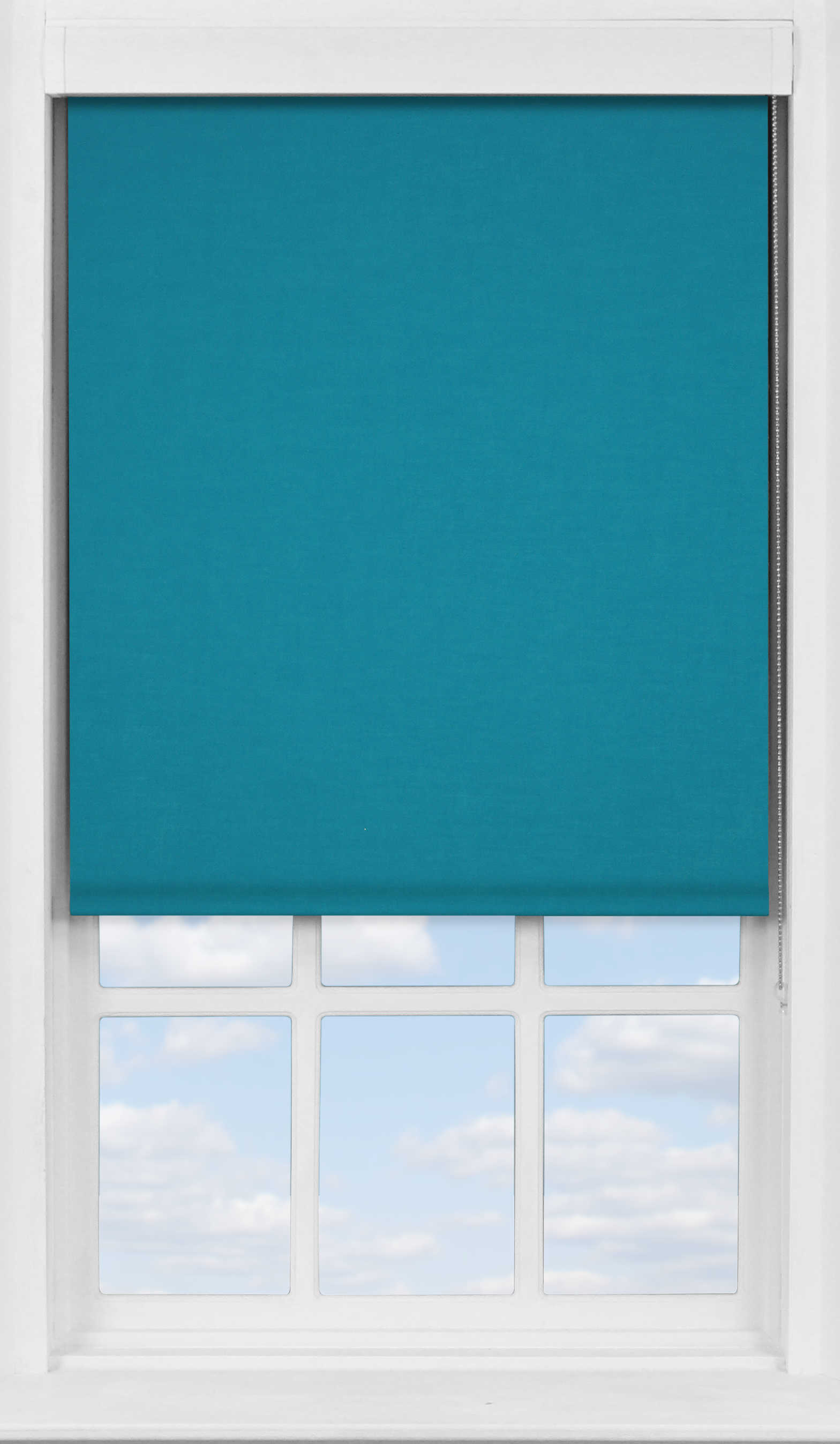 Premium Roller Blind in Mariner's Teal Translucent