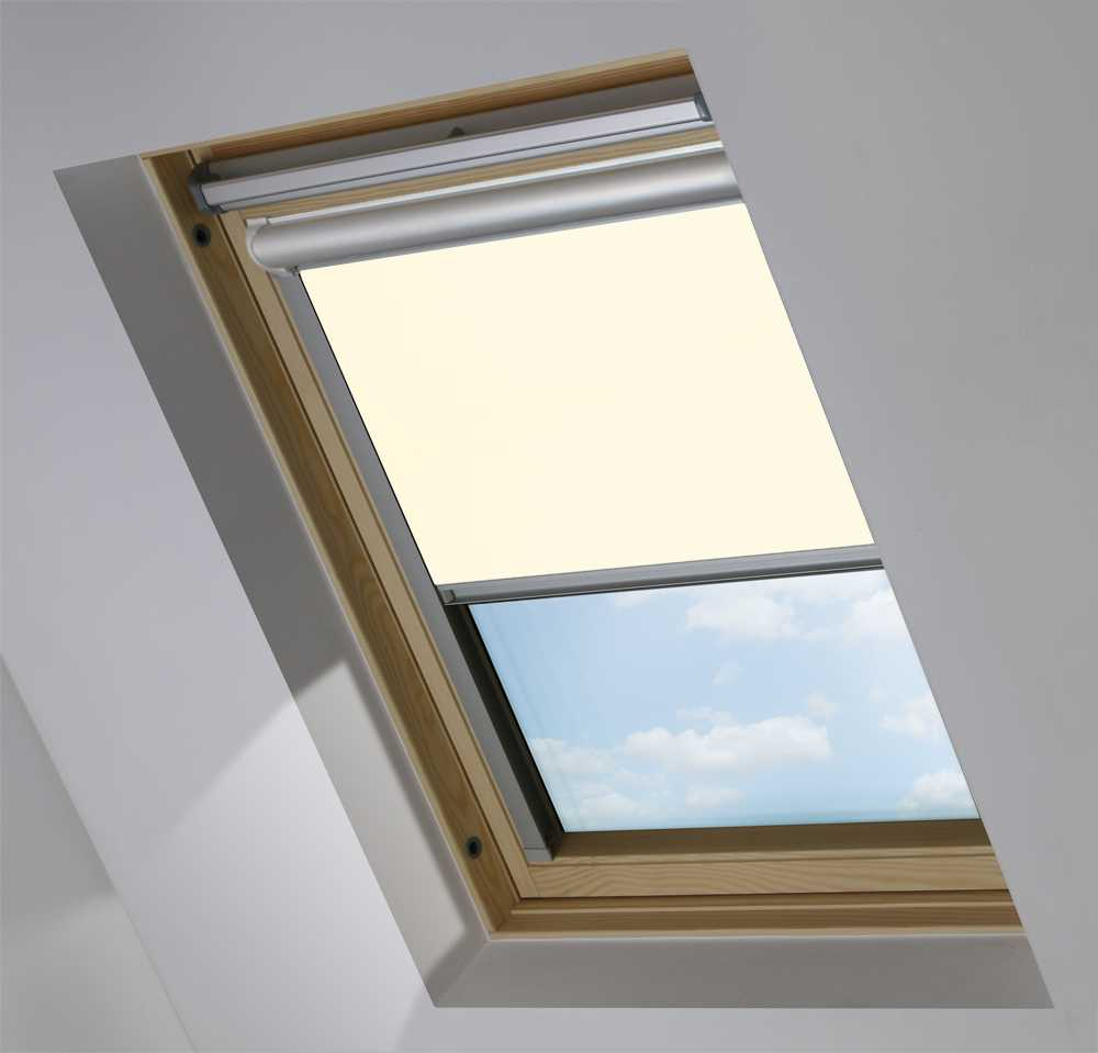 Solar Skylight Blinds to Suit FAKRO® Windows in Porcelain Blackout