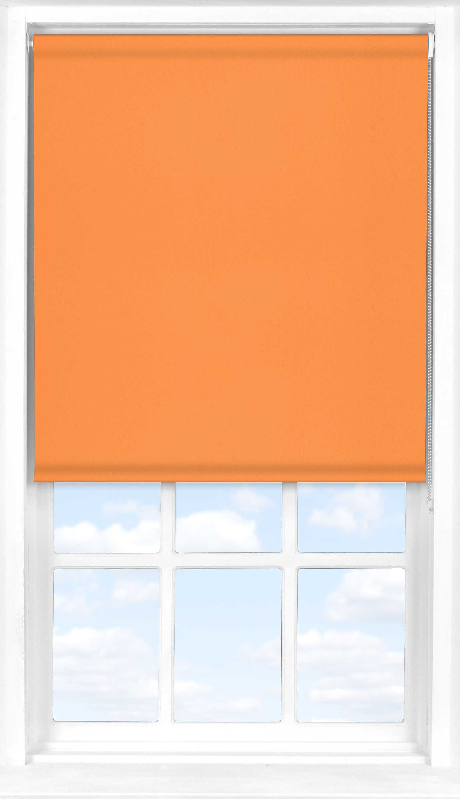 Roller Blind in Pumpkin Translucent