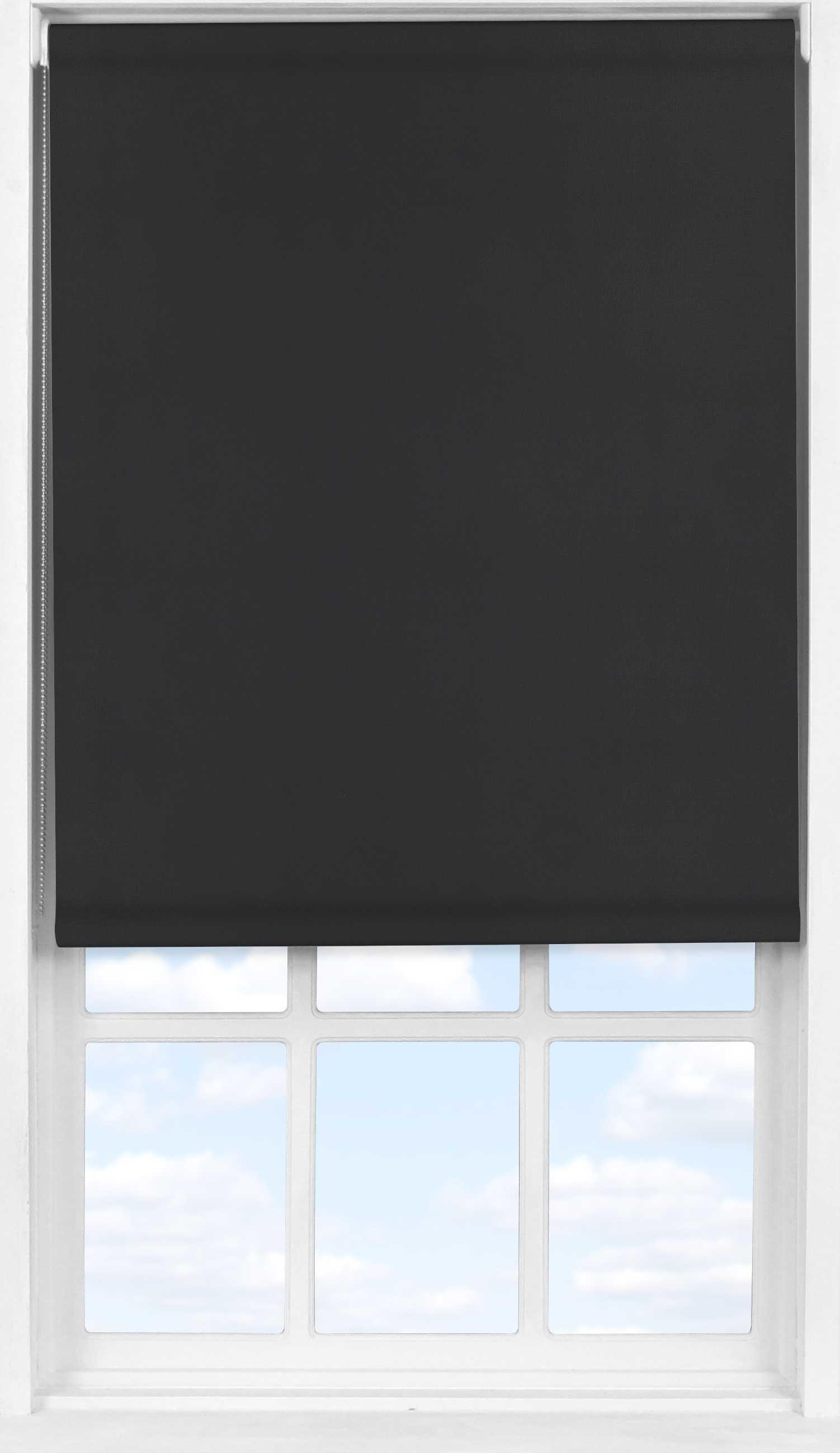 Easifit Roller Blind in PVC Black Ink