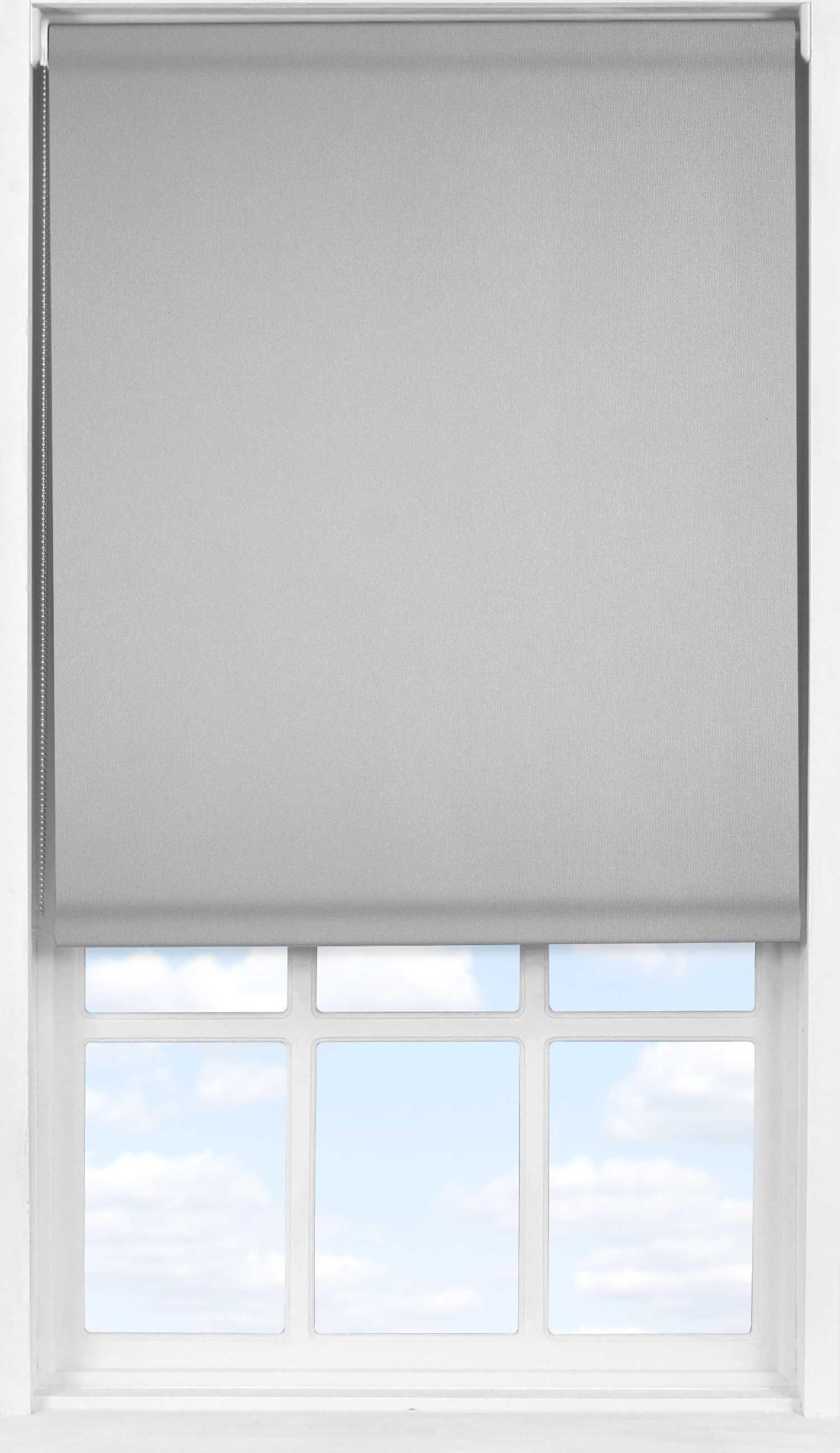 Easifit Roller Blind in PVC Soft Grey