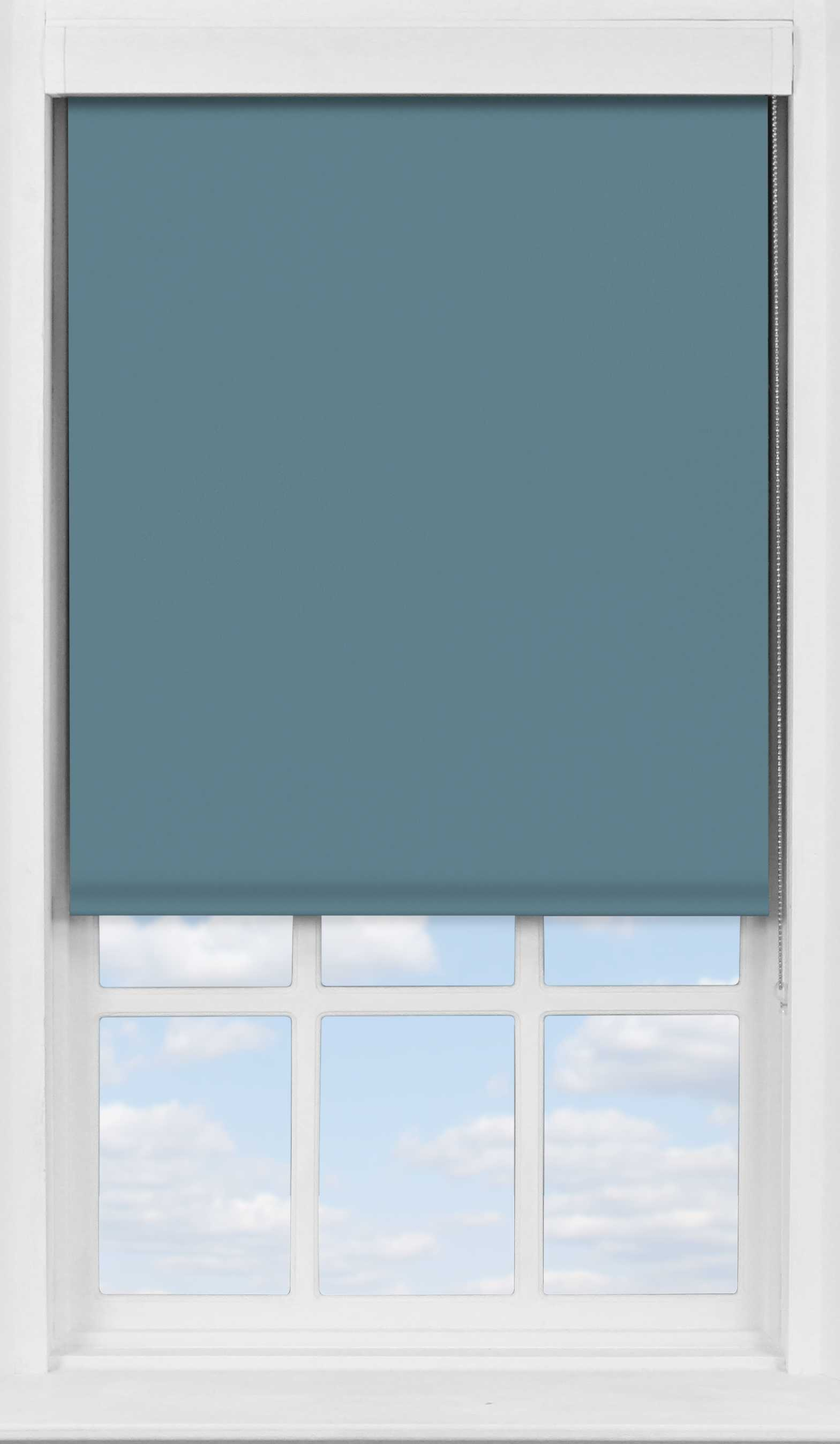 Premium Roller Blind in Refined Blue Translucent