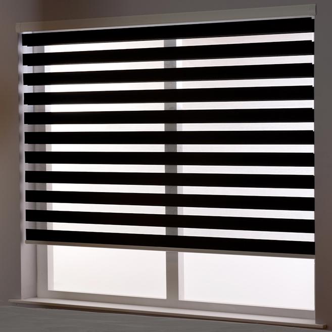 Zebra Roller Blind in Binale Black