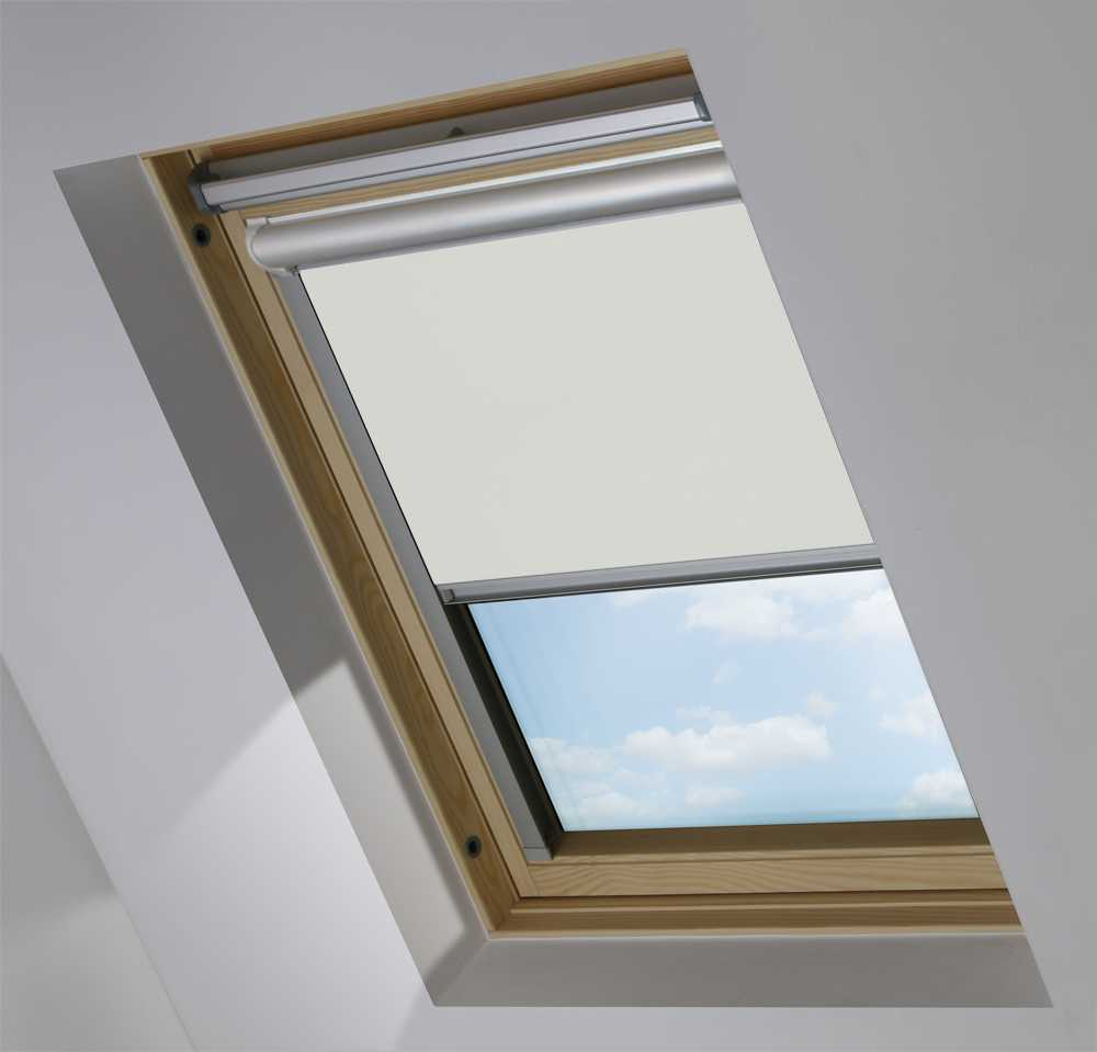 Solar Skylight Blinds to Suit FAKRO® Windows in Soft Grey Mist Blackout