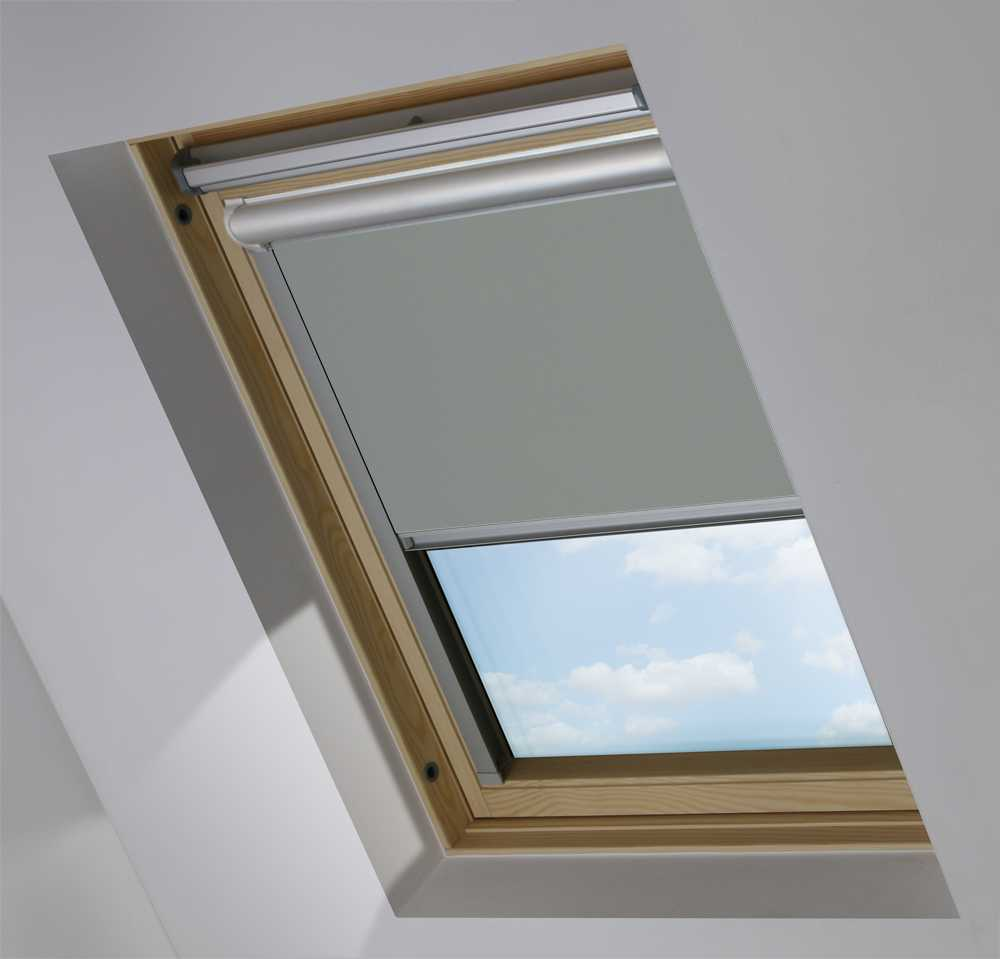 Solar Skylight Blinds to Suit FAKRO® Windows in Sooty Grey Blackout
