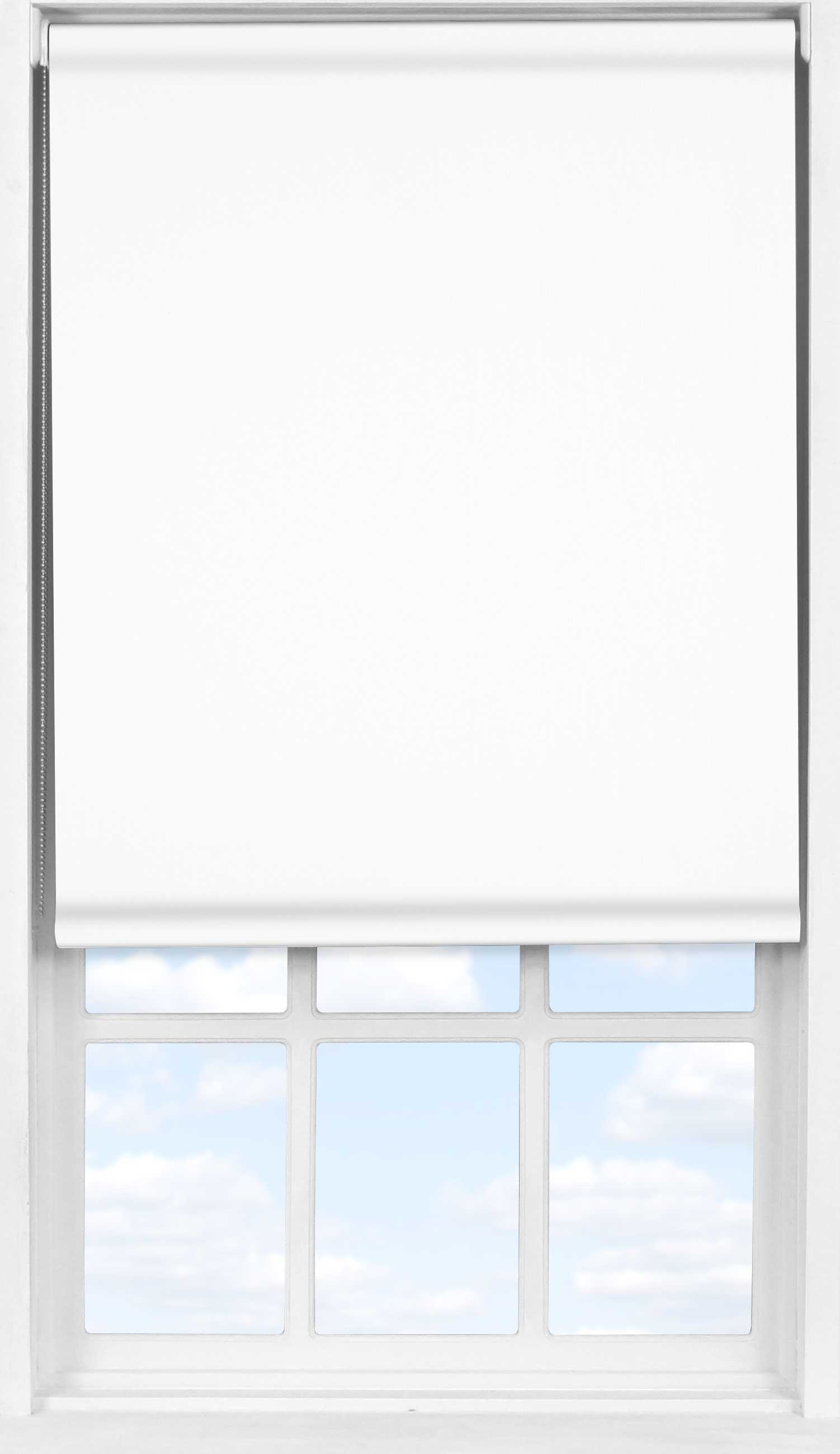 Easifit Roller Blind in True White Blackout