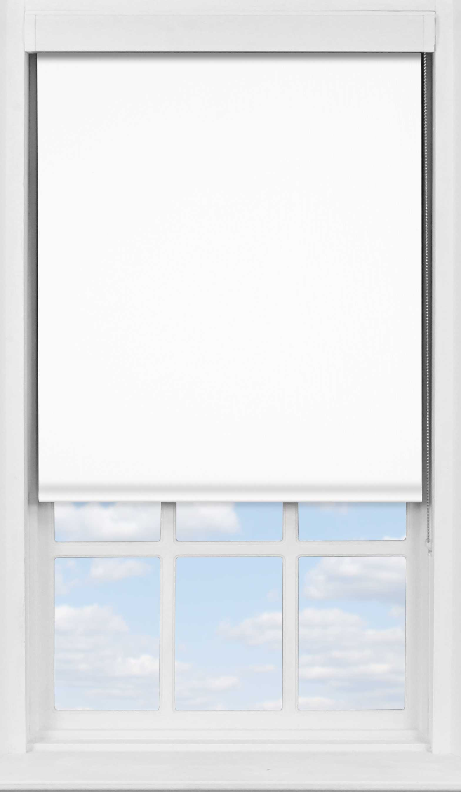Premium Roller Blind in True White Blackout