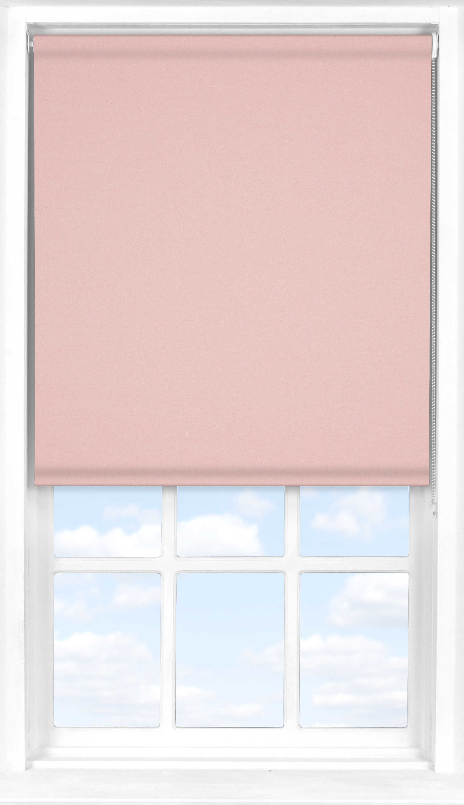 Roller Blind in Mallow Pink Blackout