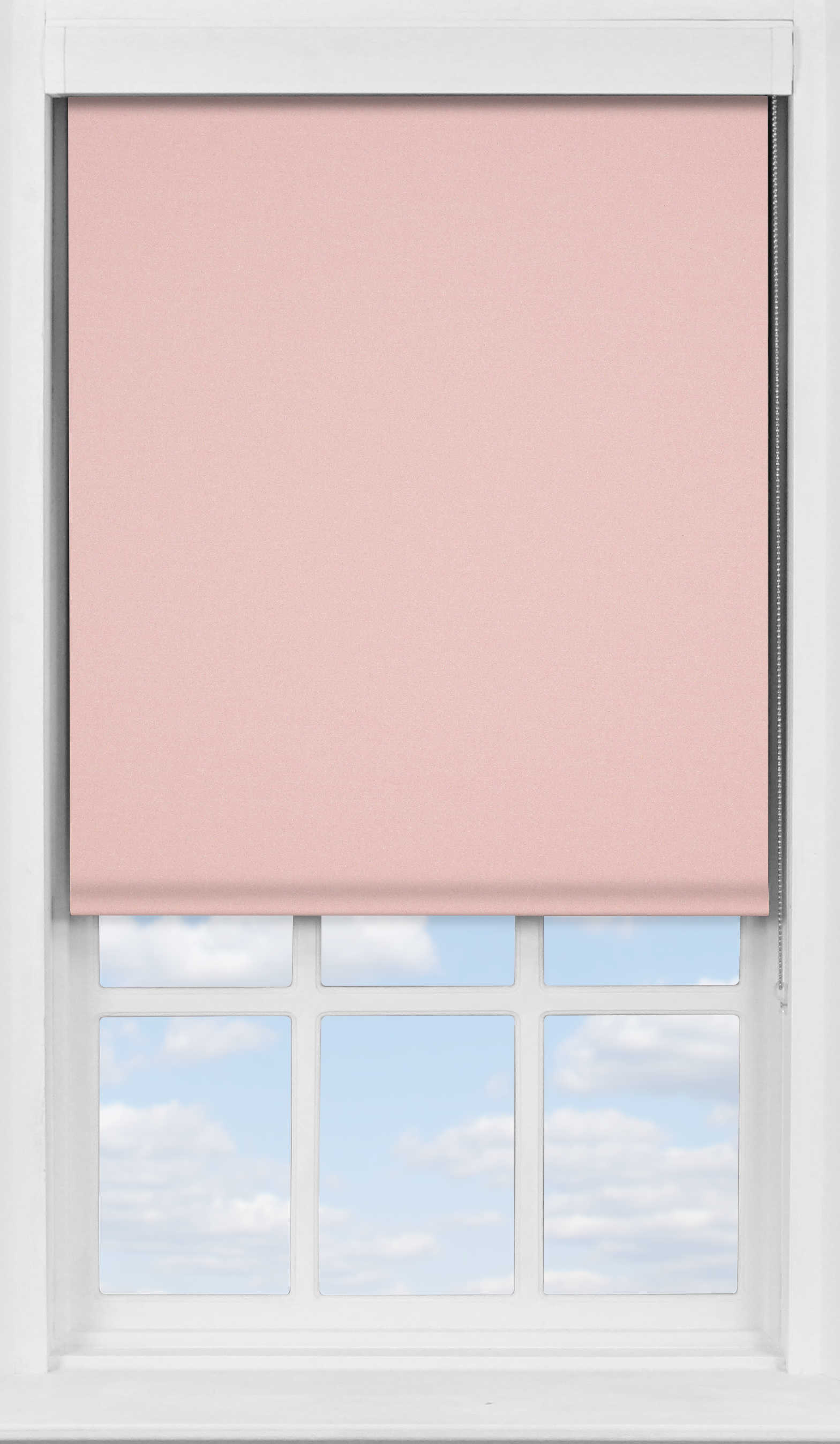 Premium Roller Blind in Mallow Pink Blackout