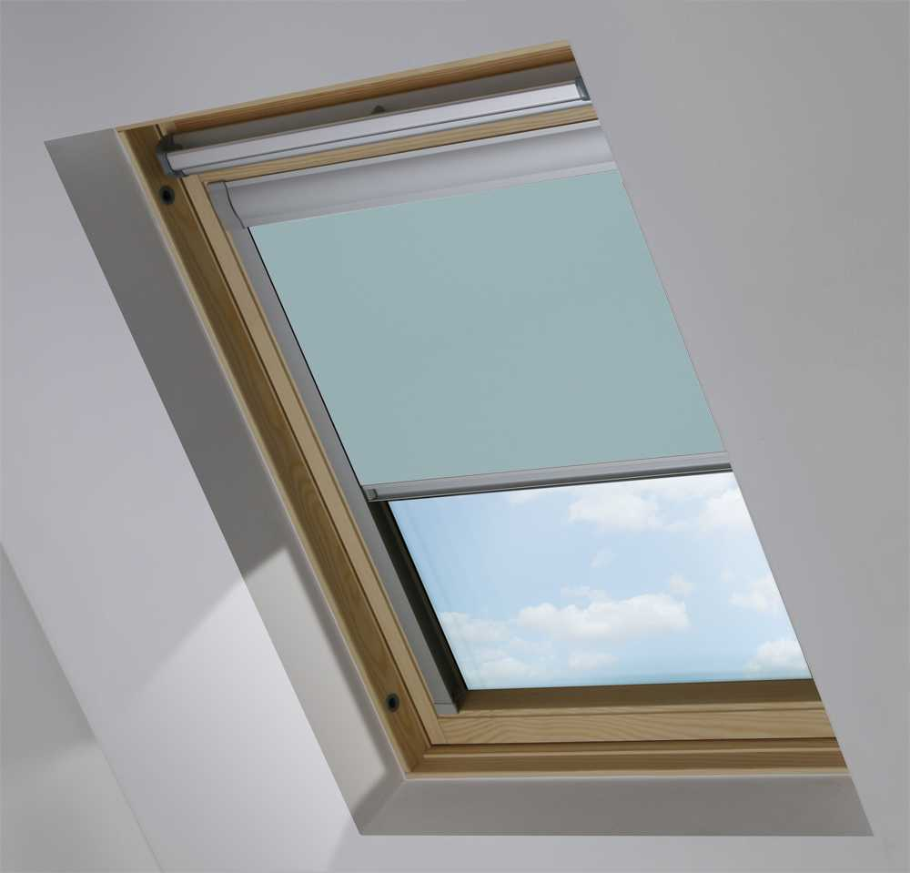 Made-To-Measure Premium Skylight Blind in Blue Stone Blackout