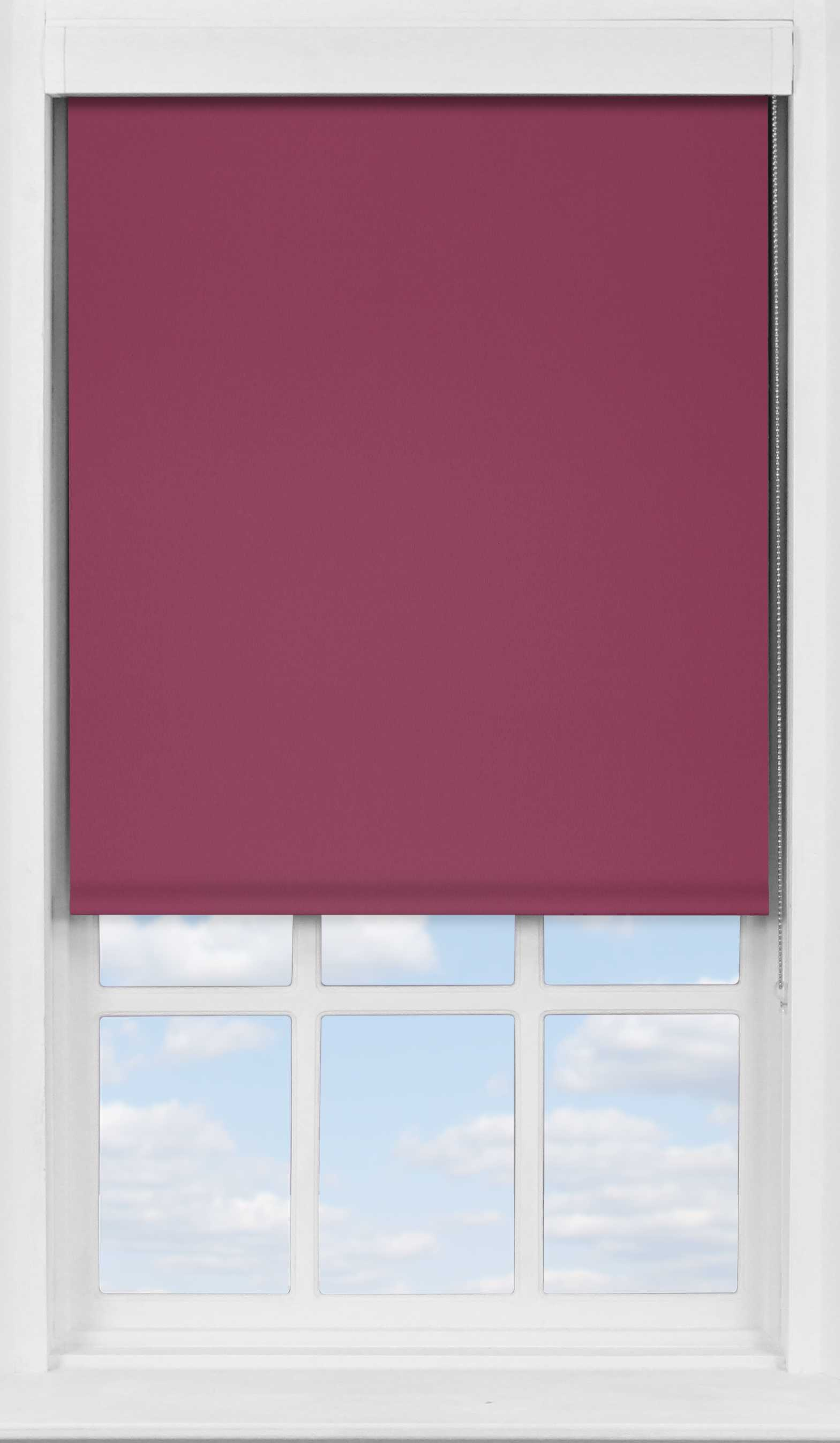 Premium Roller Blind in Blackberry Blackout